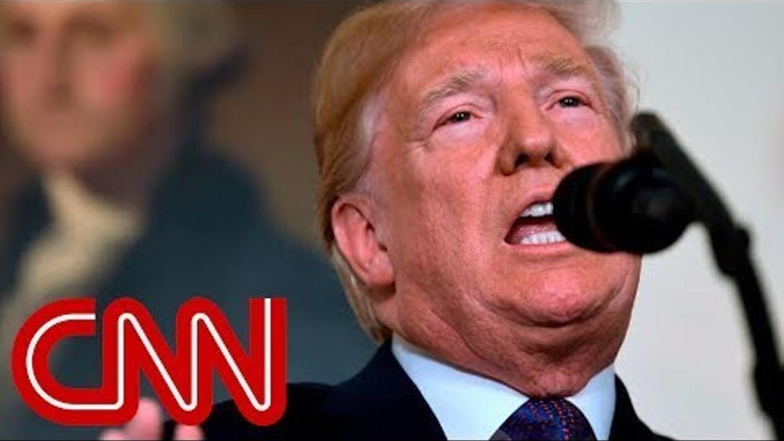 Missatge televisat de Donald Trump anunciant l'atac contra instal·lacions militars a Síria