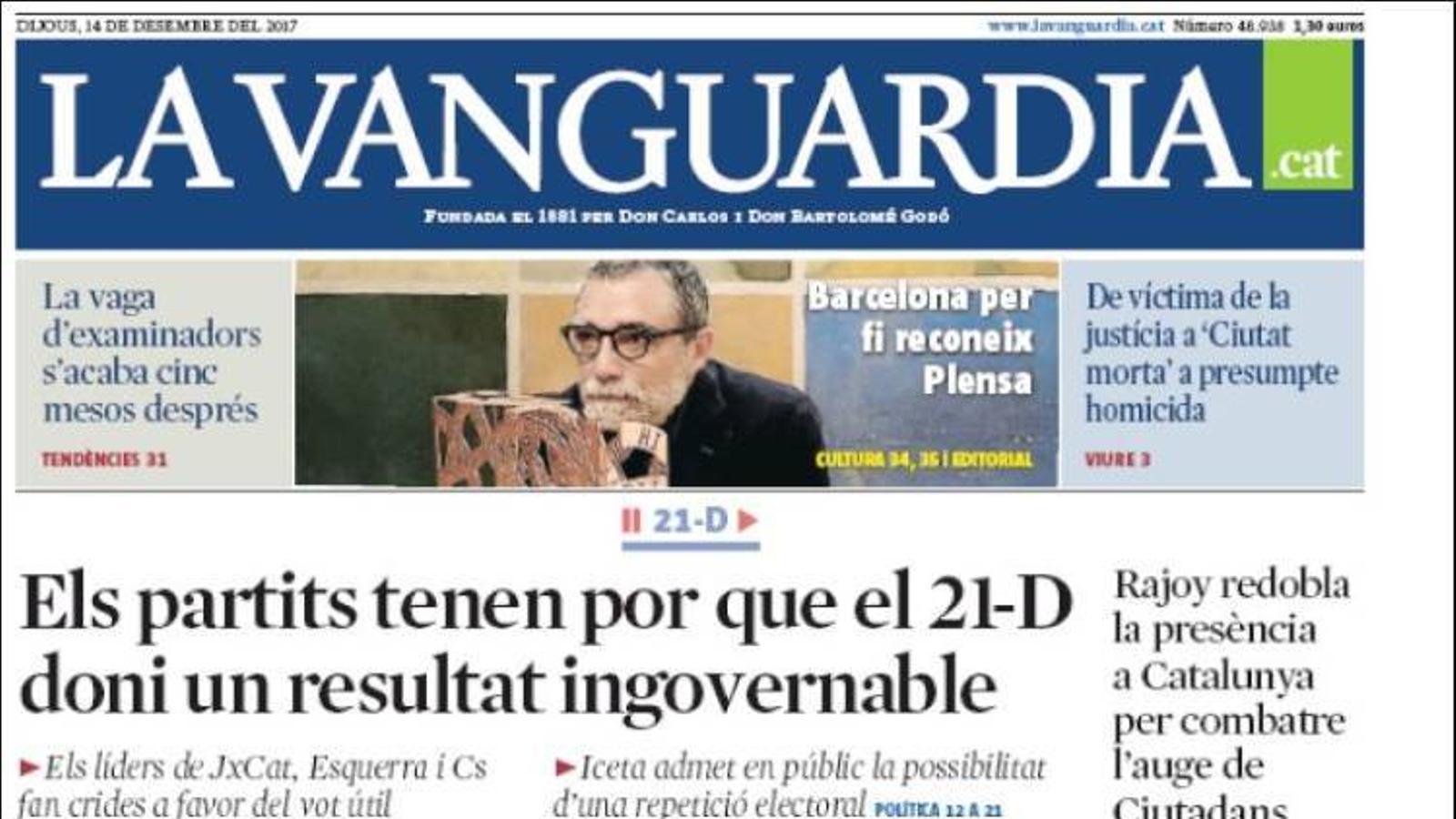 """""""Iceta reclama indults per l'1-O i rebenta el bloc constitucional"""", portada d''El Mundo'"""
