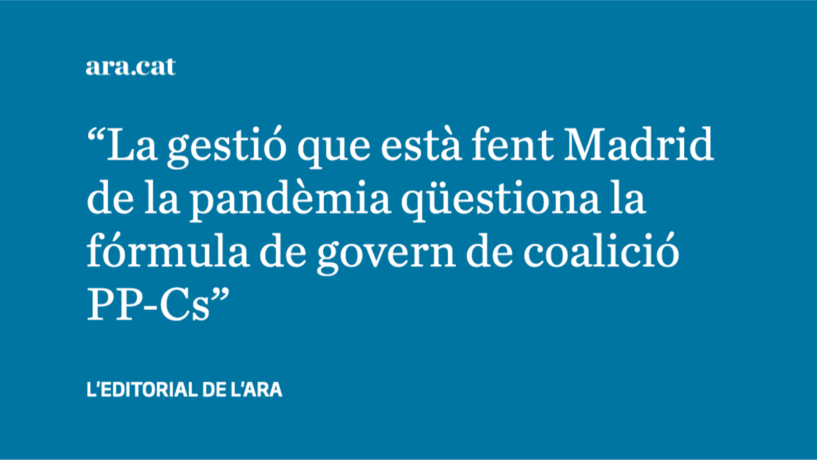 El fracàs de la gestió madrilenya de la pandèmia