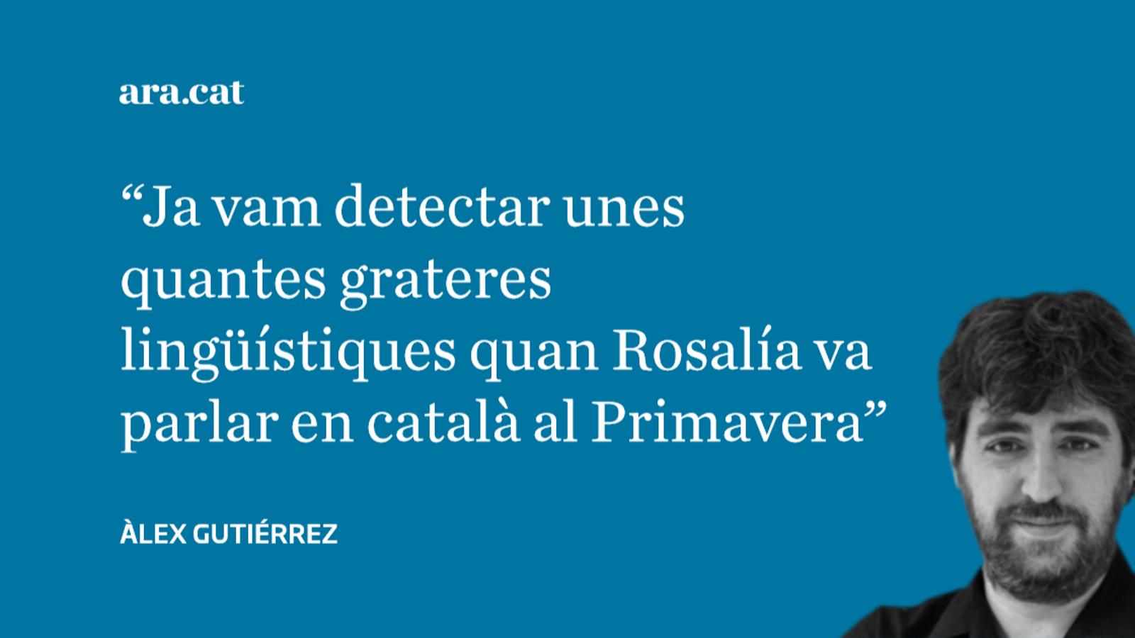 'Crónica Global' contra Rosalía, perquè canta en català