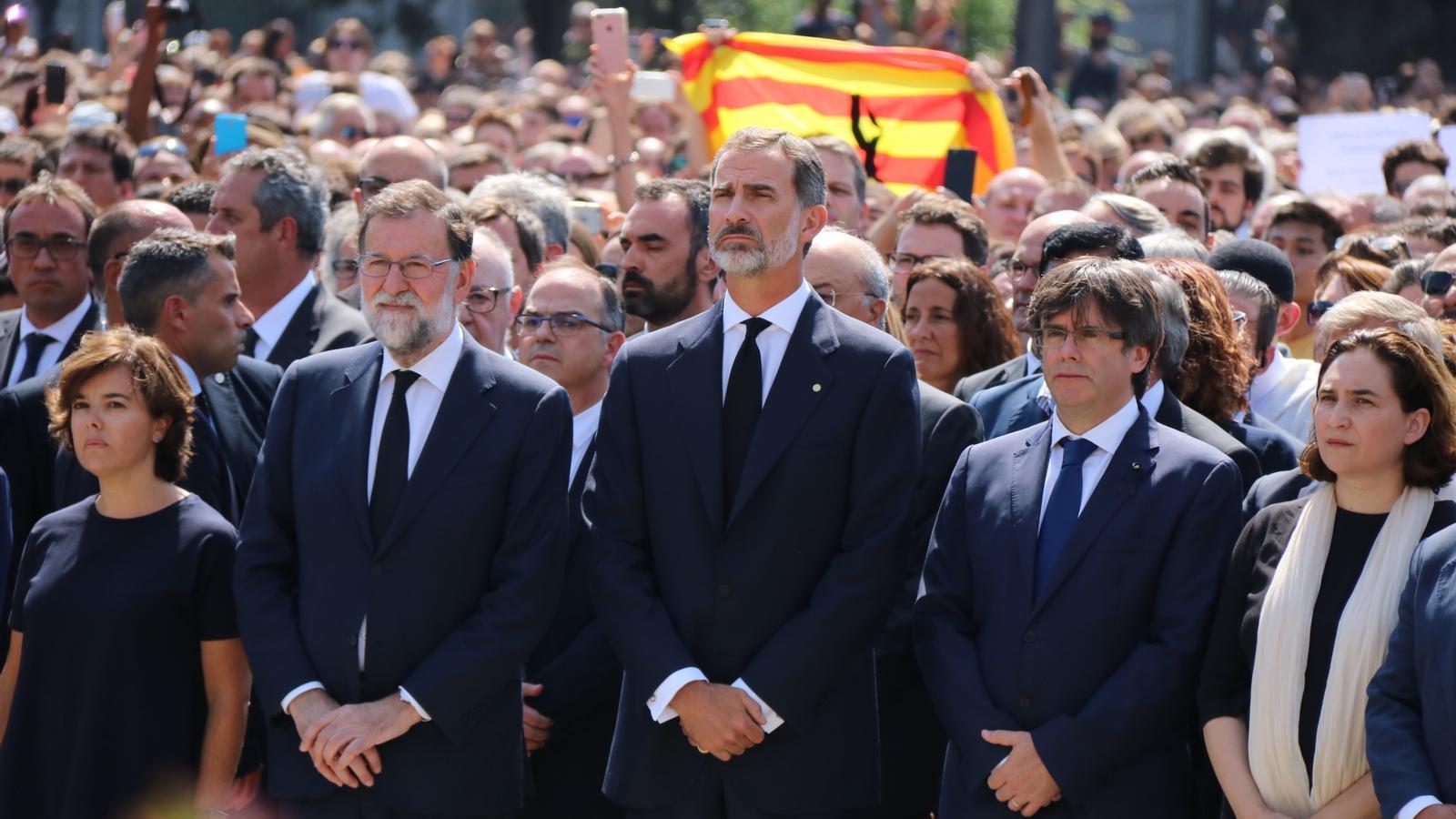 Felip VI serà a la commemoració del 17-A i la Moncloa espera que no el xiulin