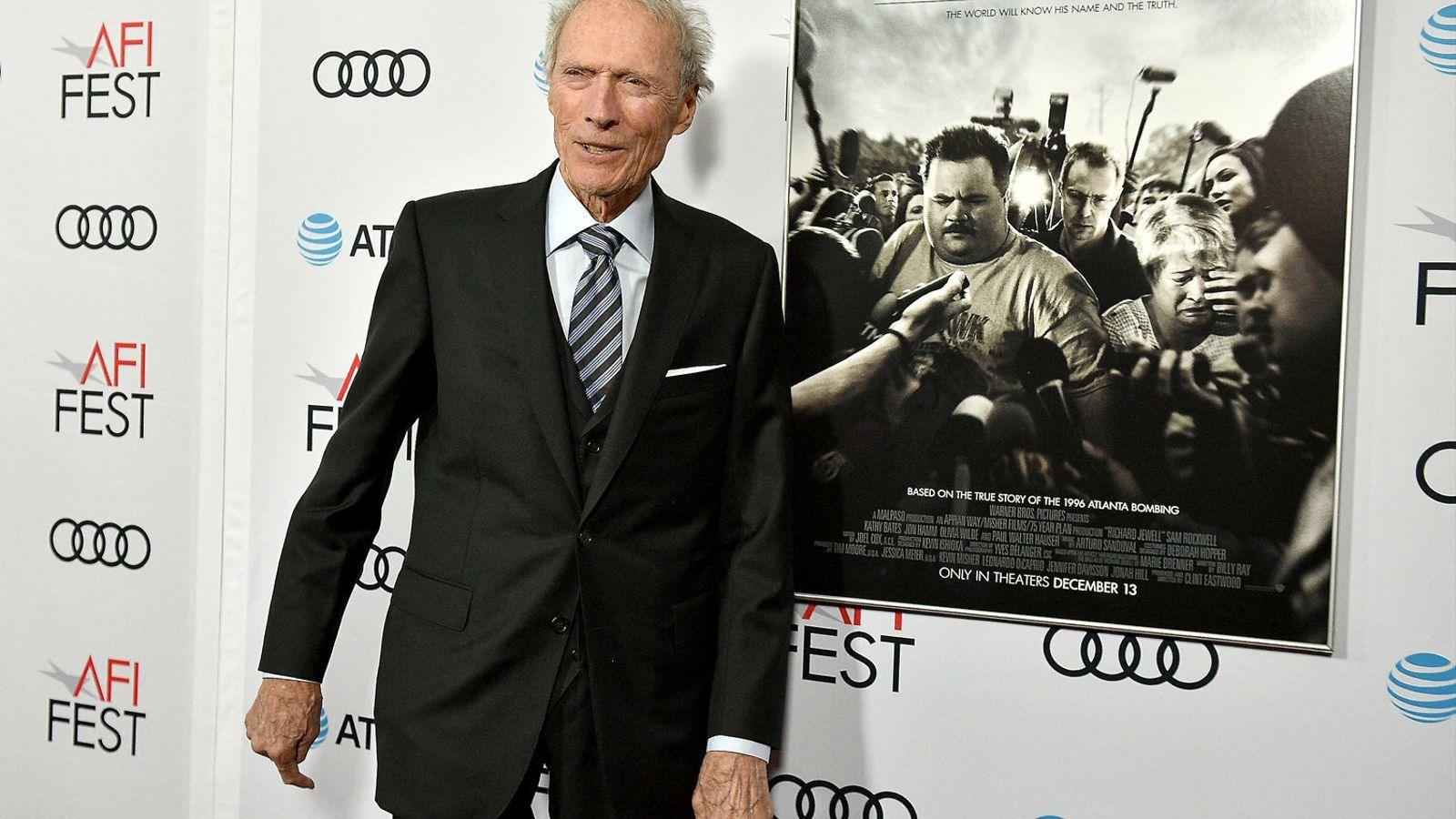 Clint Eastwood en una presentació  del seu film Richard Jewell.