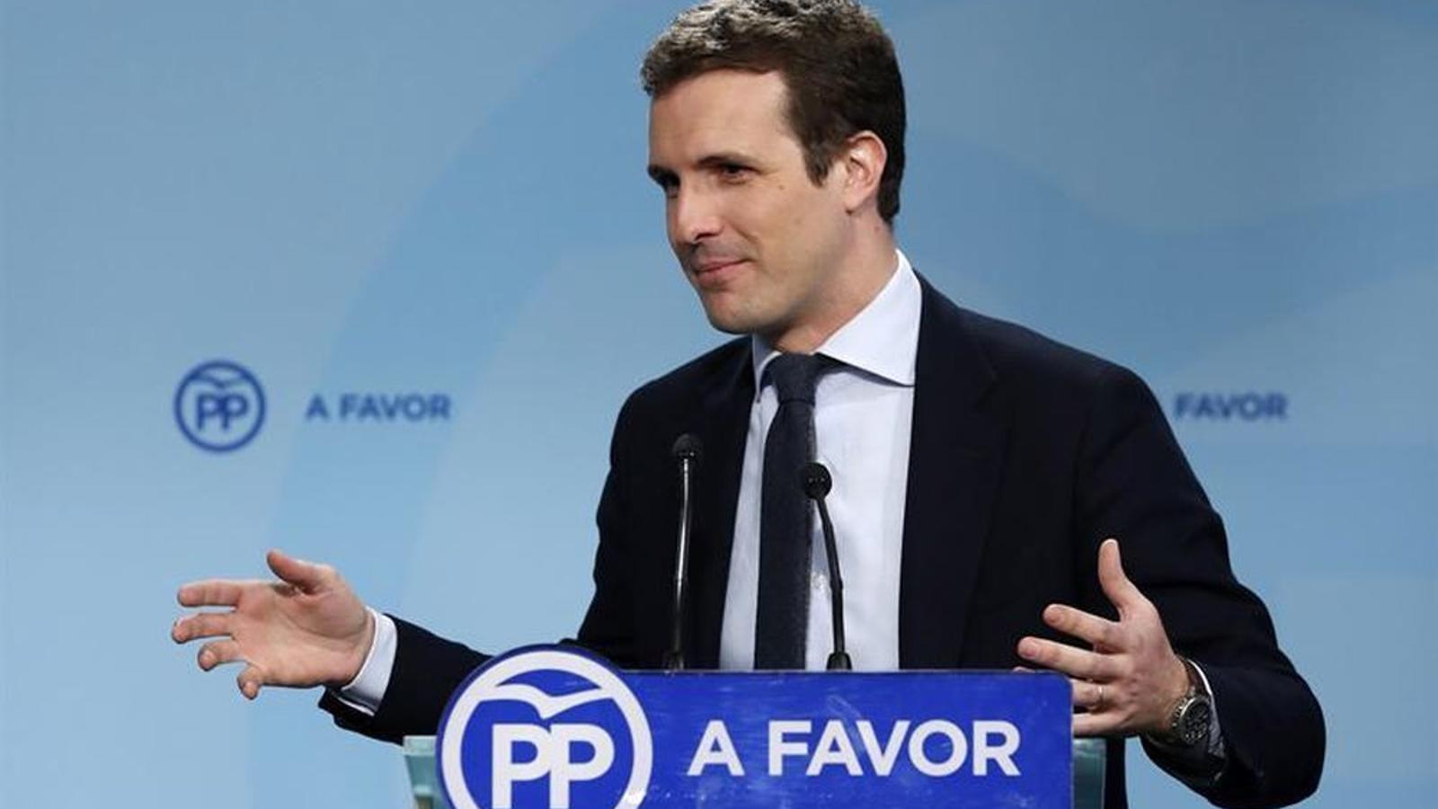 El vicesecretari de comunicació del PP, Pablo Casado