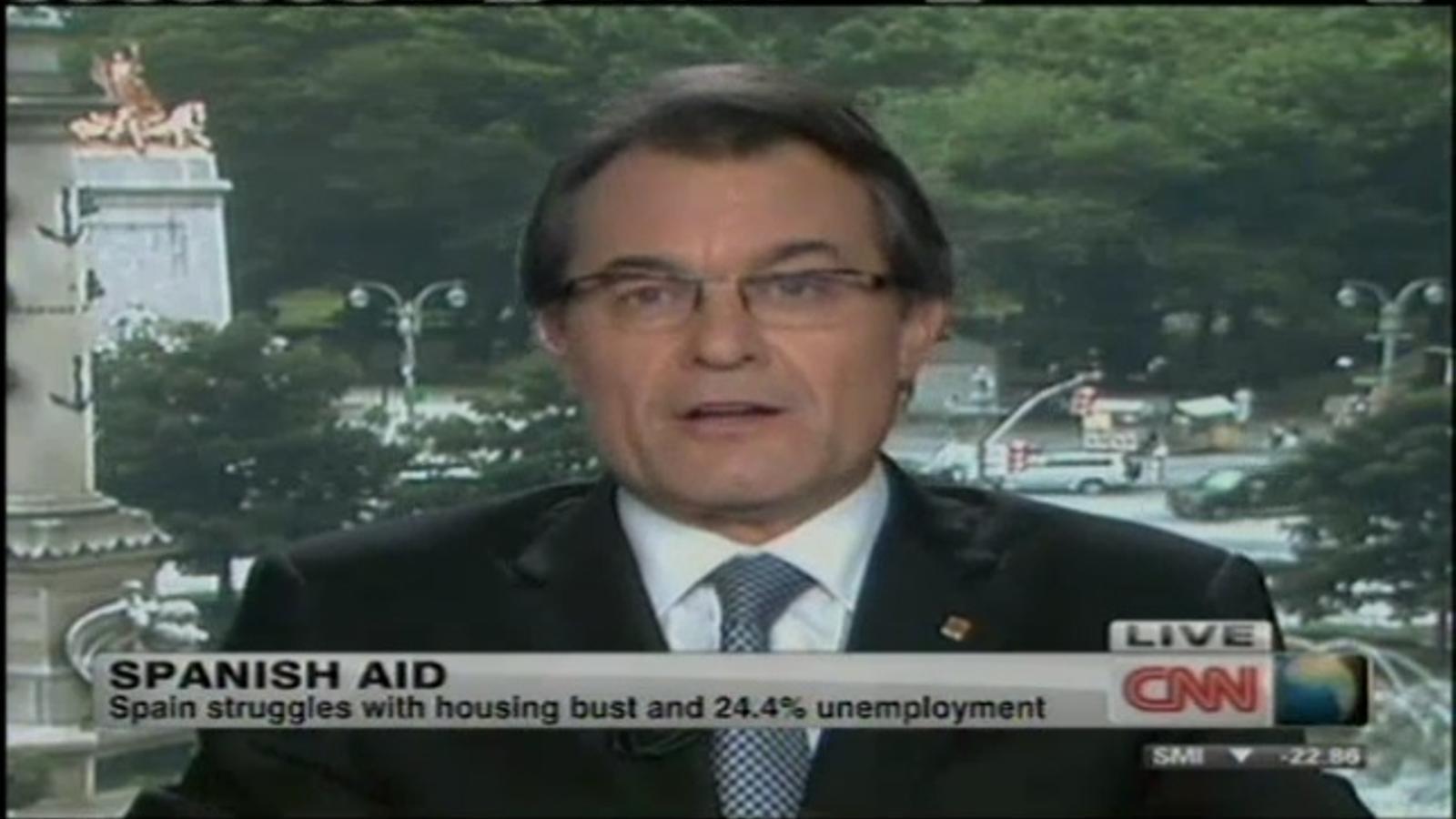 Entrevista al President Artur Mas a la cadena CNN