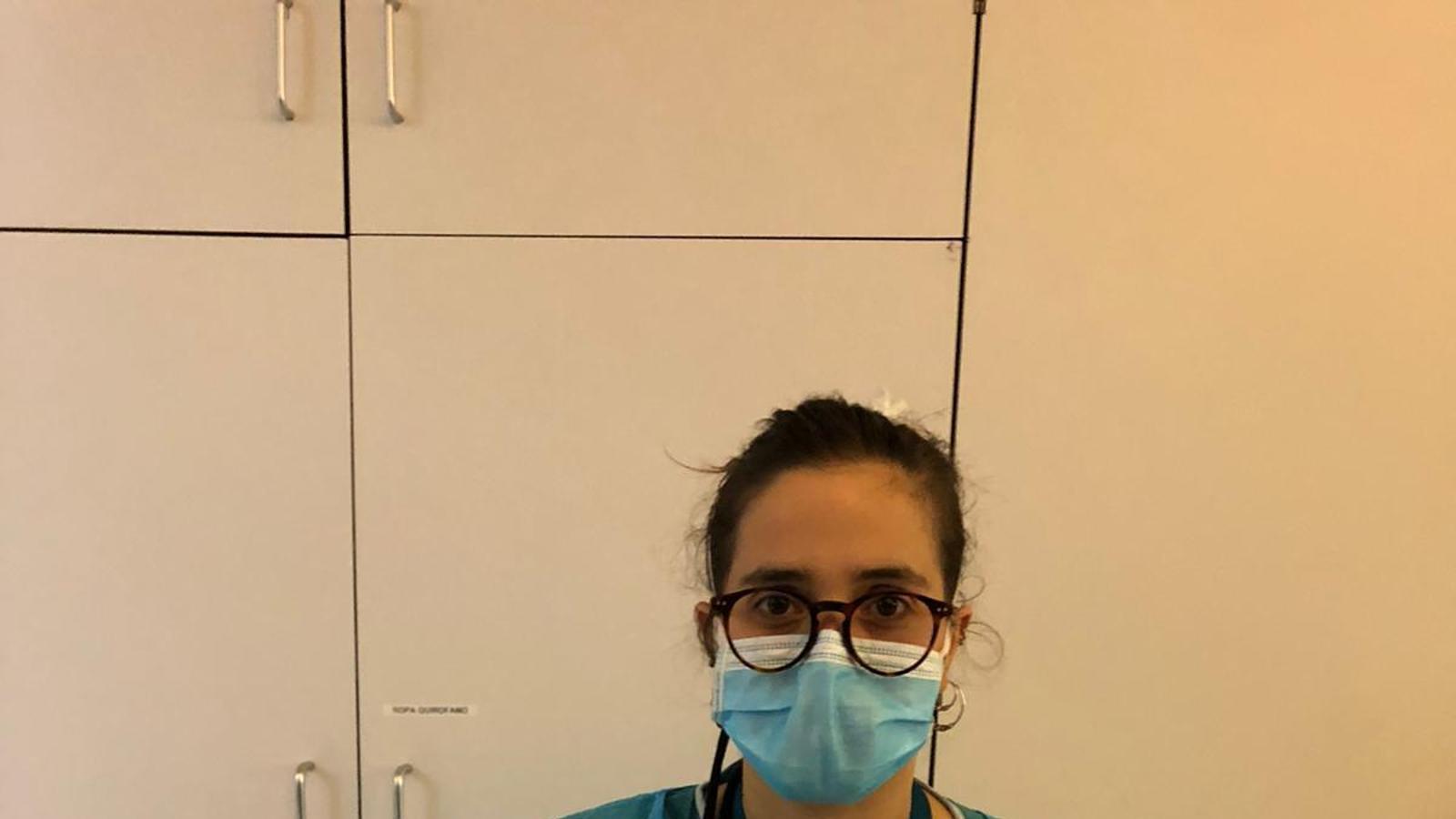 Marina Nebot és infermera a la Maternitat de l'Hospital Clínic