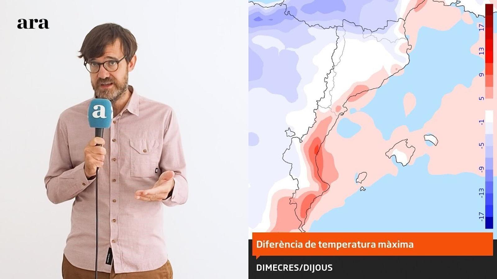 La méteo: dijous de calor a l'espera d'una nova fase de fred avançat, vent, pluges i nevades