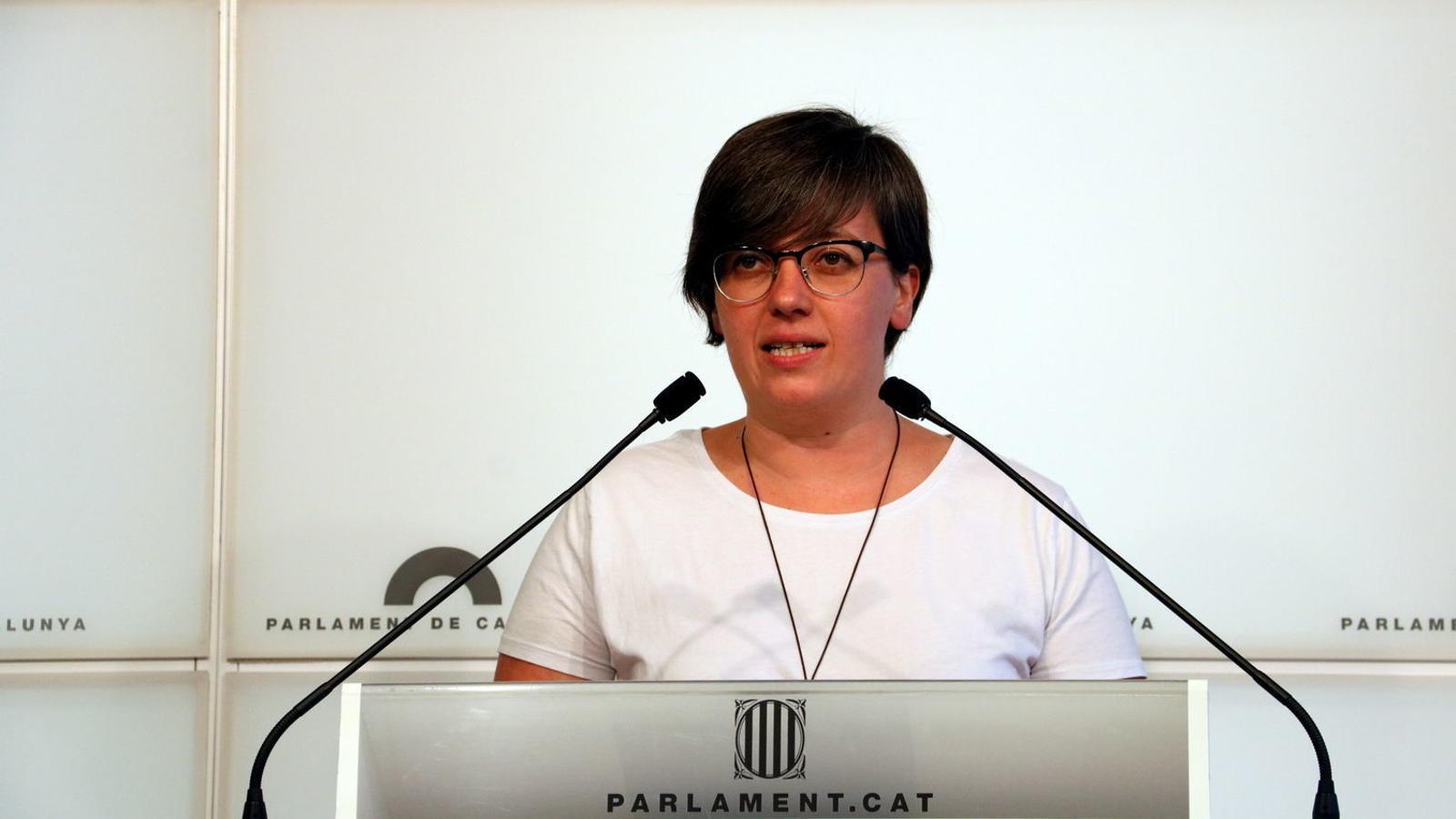 La presidenta del grup parlamentari de la CUP, Mireia Boya