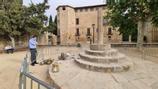 Un acte vandàlic acaba amb la creu del monestir de Sant Cugat destrossada