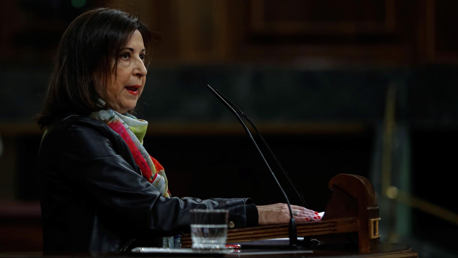 La ministra de Defensa, Margarita Robles, ha presentat l'escrit davant de la Fiscalia per si hi veu indicis d'un delicte d'usurpació de funcions.