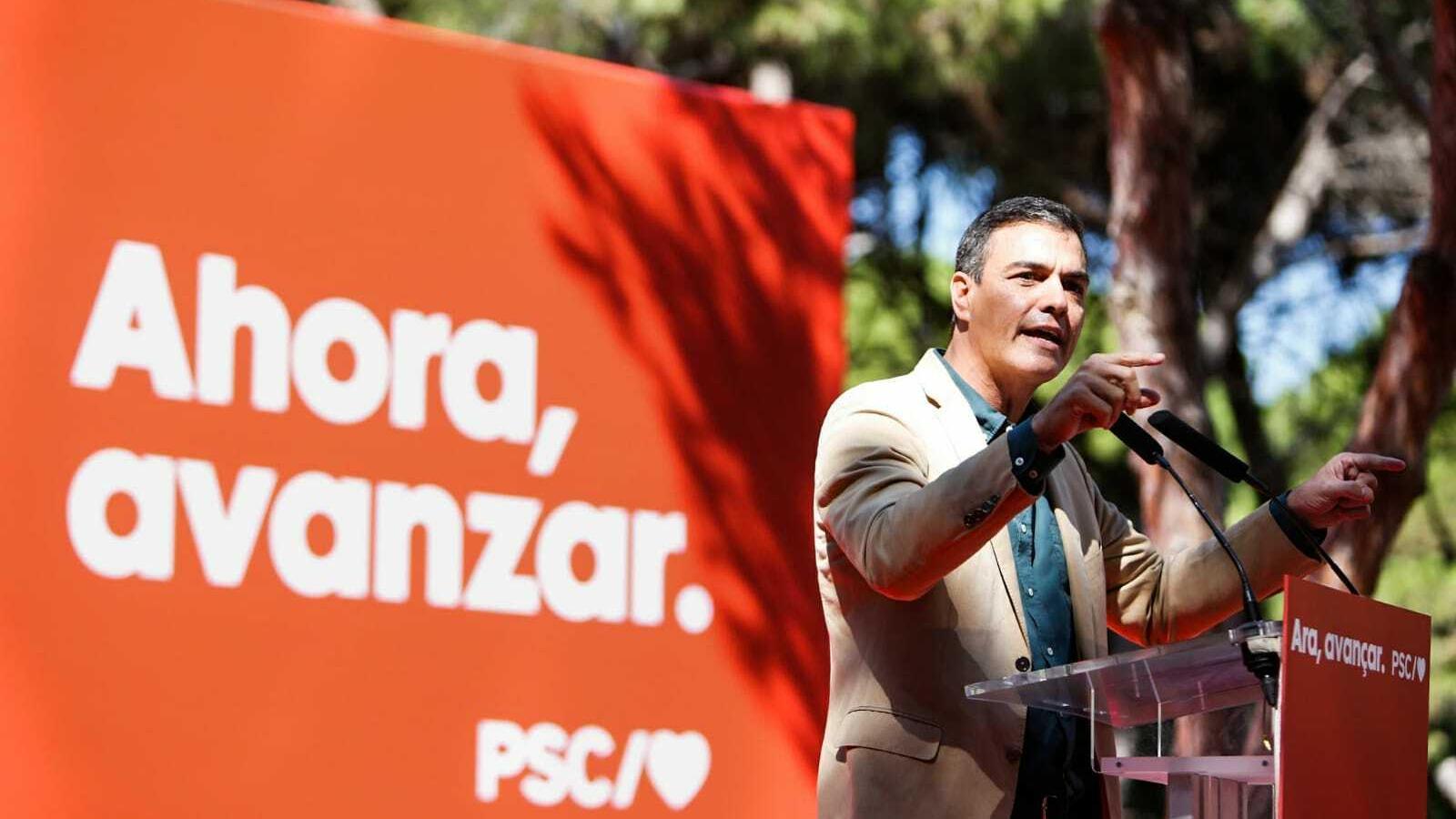 Sánchez inicia la precampanya a Catalunya amenaçant amb el 155