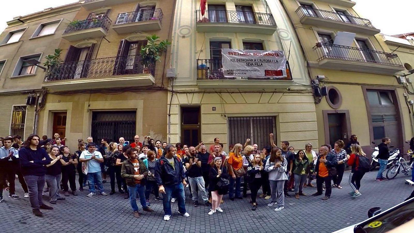 Una altra concentració a Barcelona per evitar un desnonament, avui