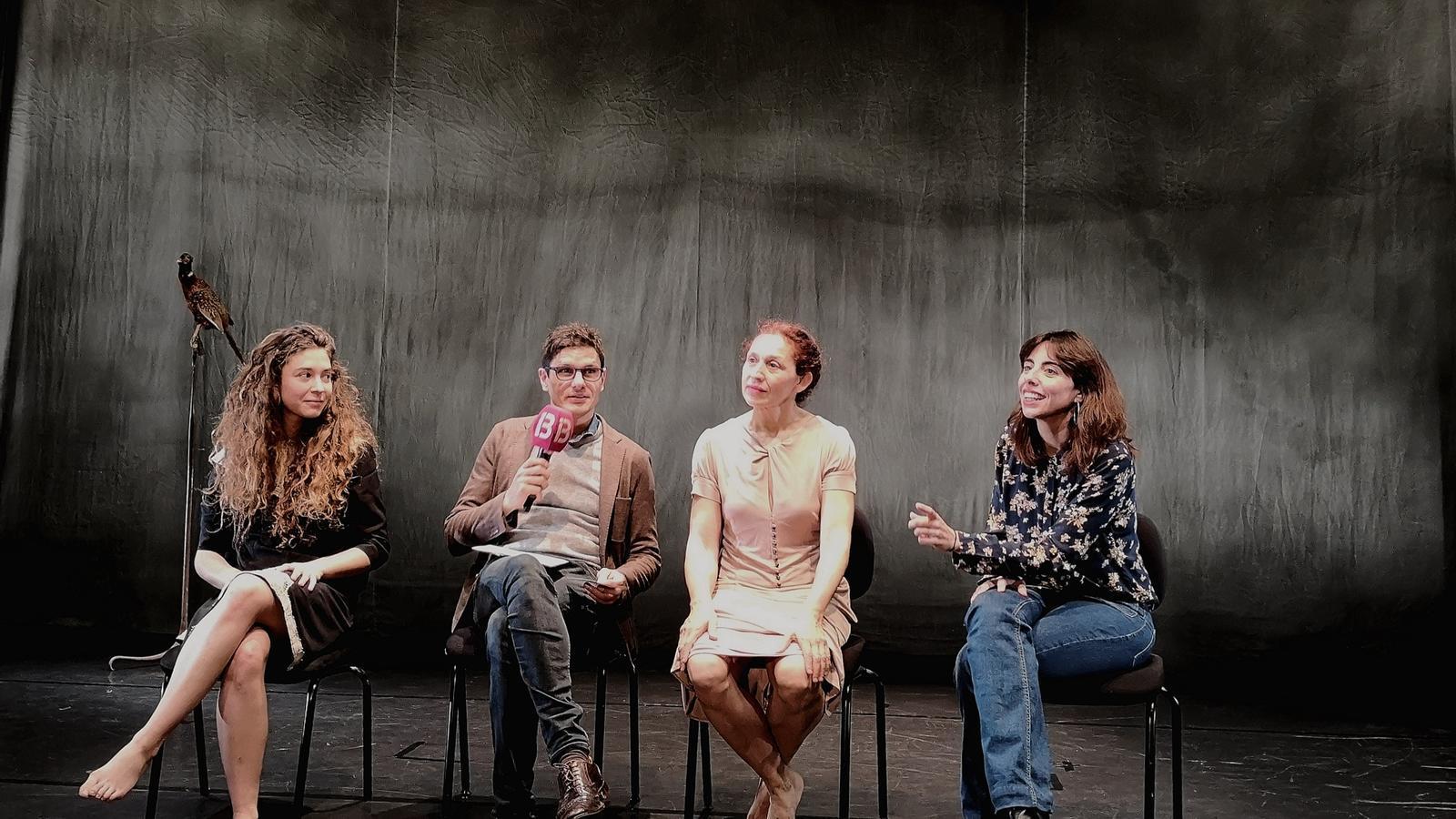 Imatge de la presentació de l'obra, aquest matí al Teatre Principal