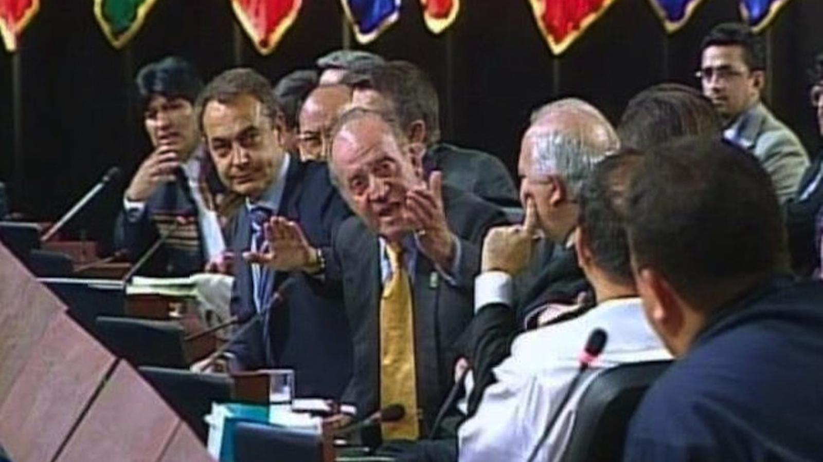 El rei a Chávez: ¿Por qué no te callas?