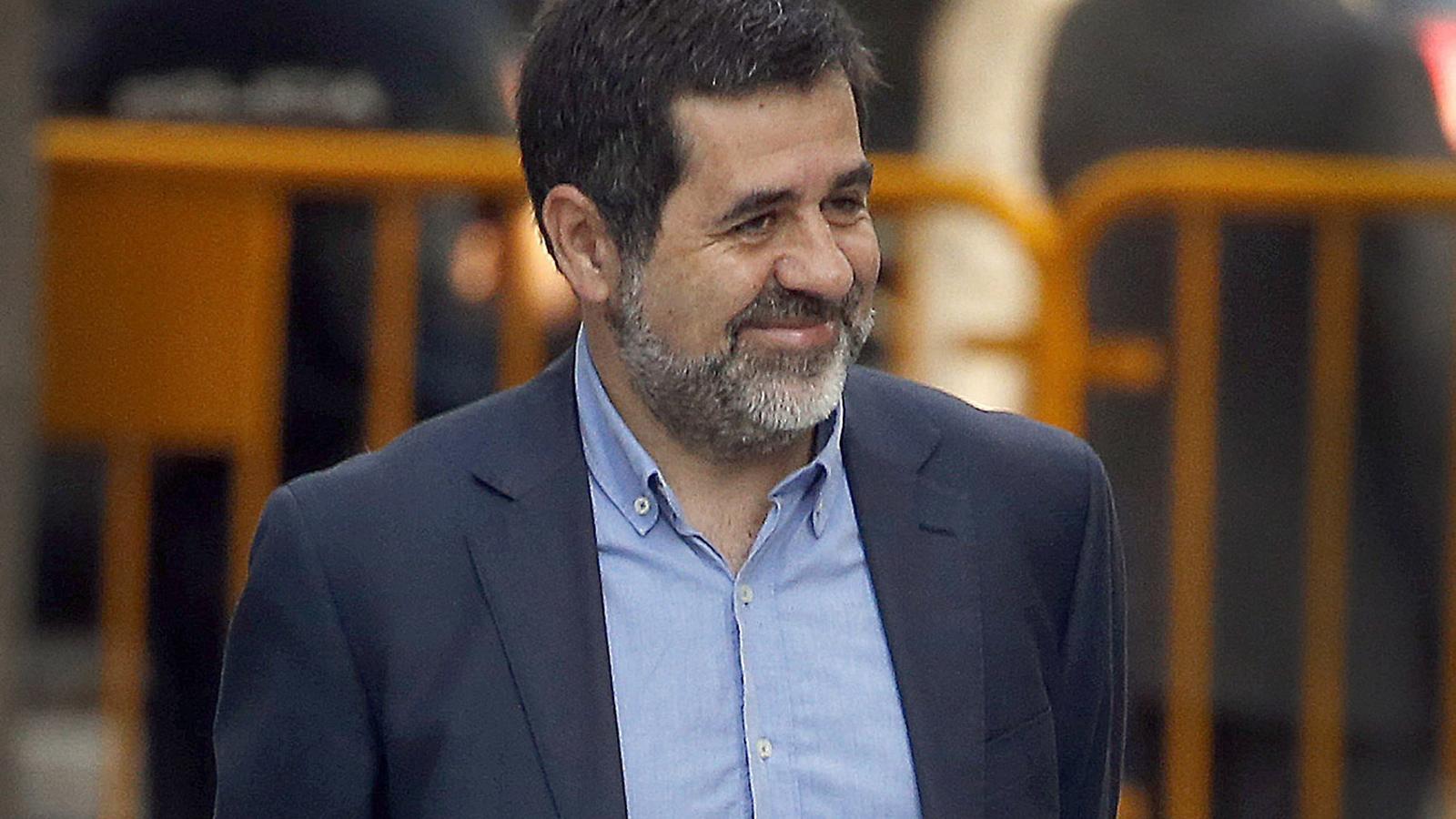 El número 2 de JxCat, Jordi Sànchez, davant l'Audiència Nacional el dia 16 d'octubre de l'any passat.