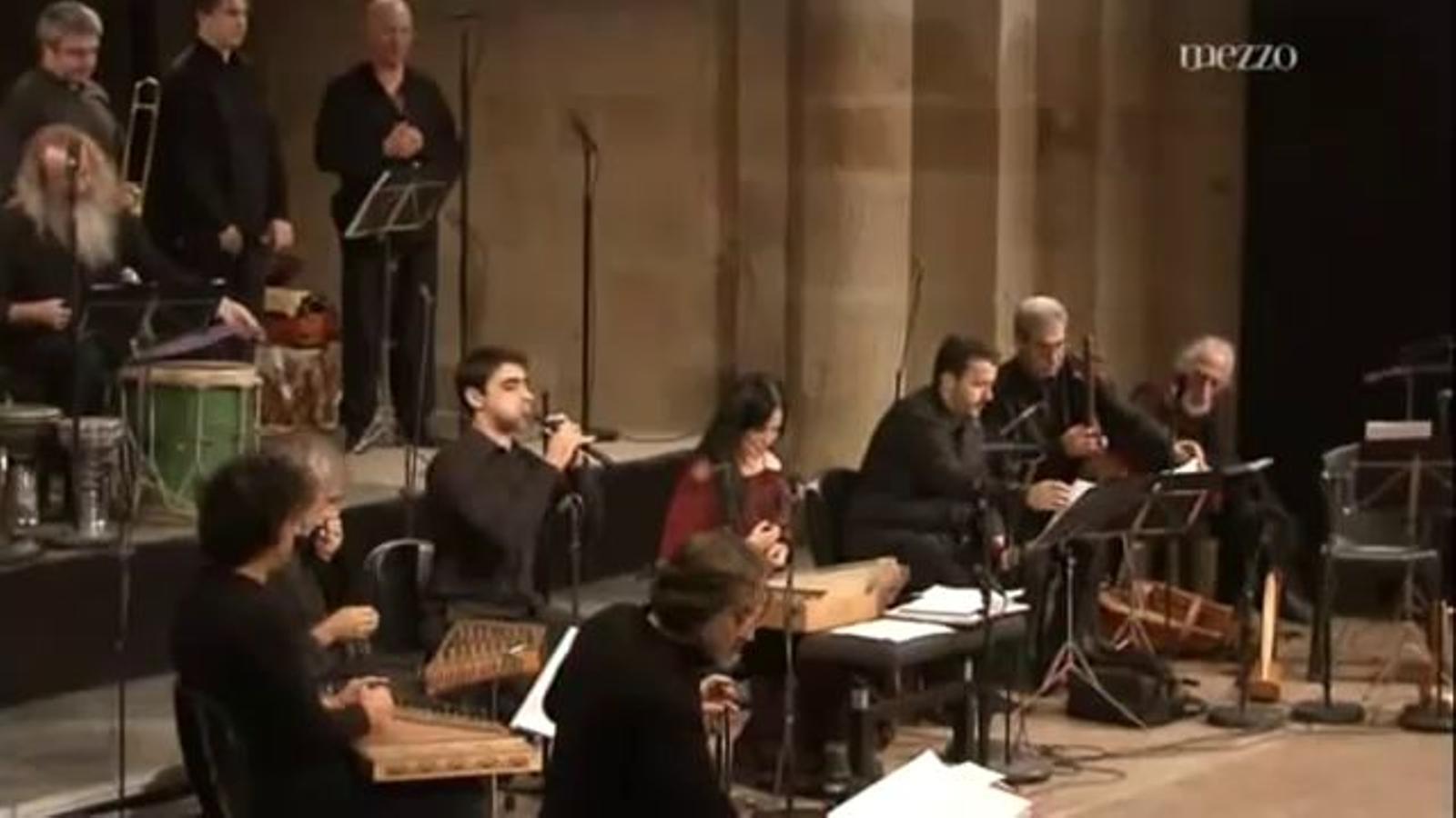 Actuació d'Hesperion XXI, amb Jordi Savall i Montserrat Figueras