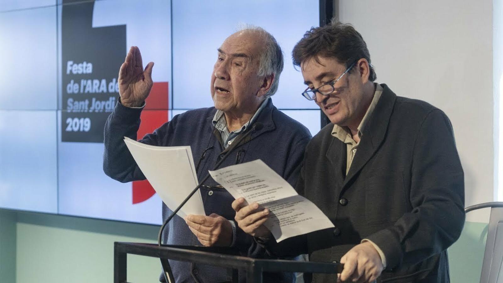 Joan Margarit i Luis García Montero avancen el Sant Jordi amb l'ARA