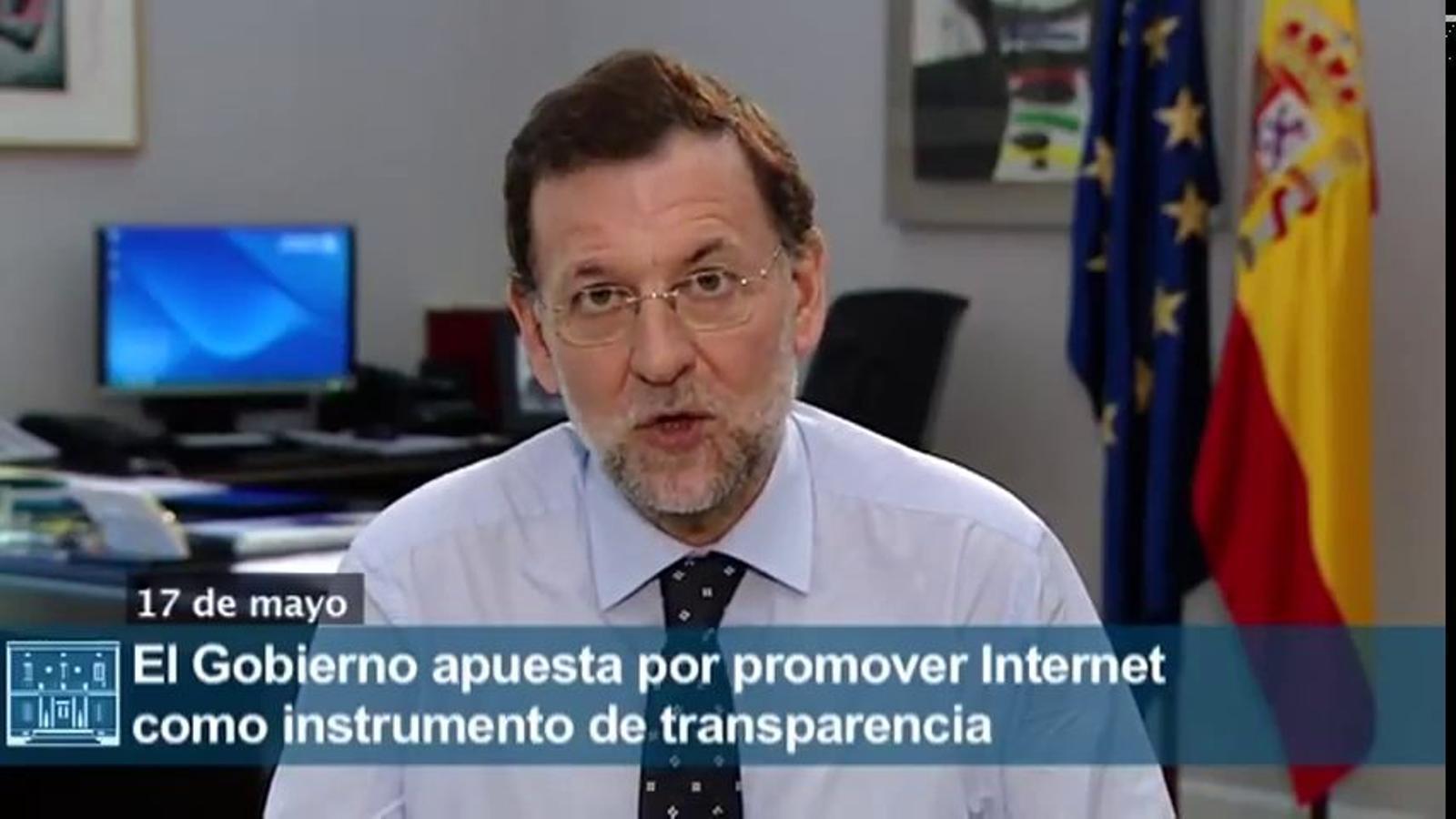 """El repte de Rajoy amb Internet: """"Més transparència a l'Administració"""""""