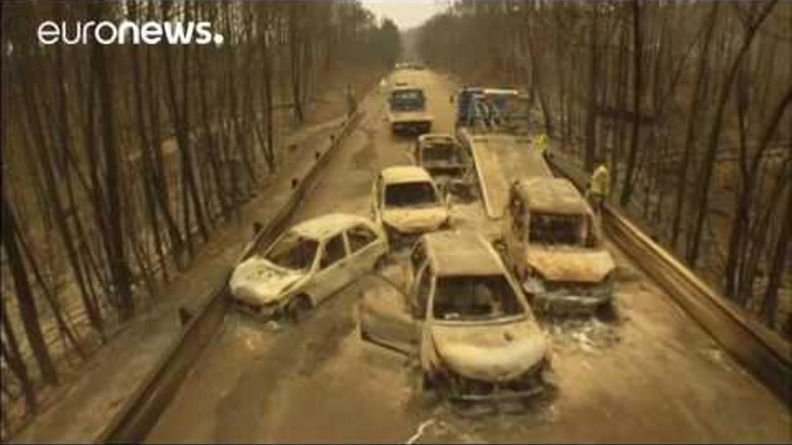 L'incendi de Portugal continua actiu en quatre focus a Leiria i Coimbra