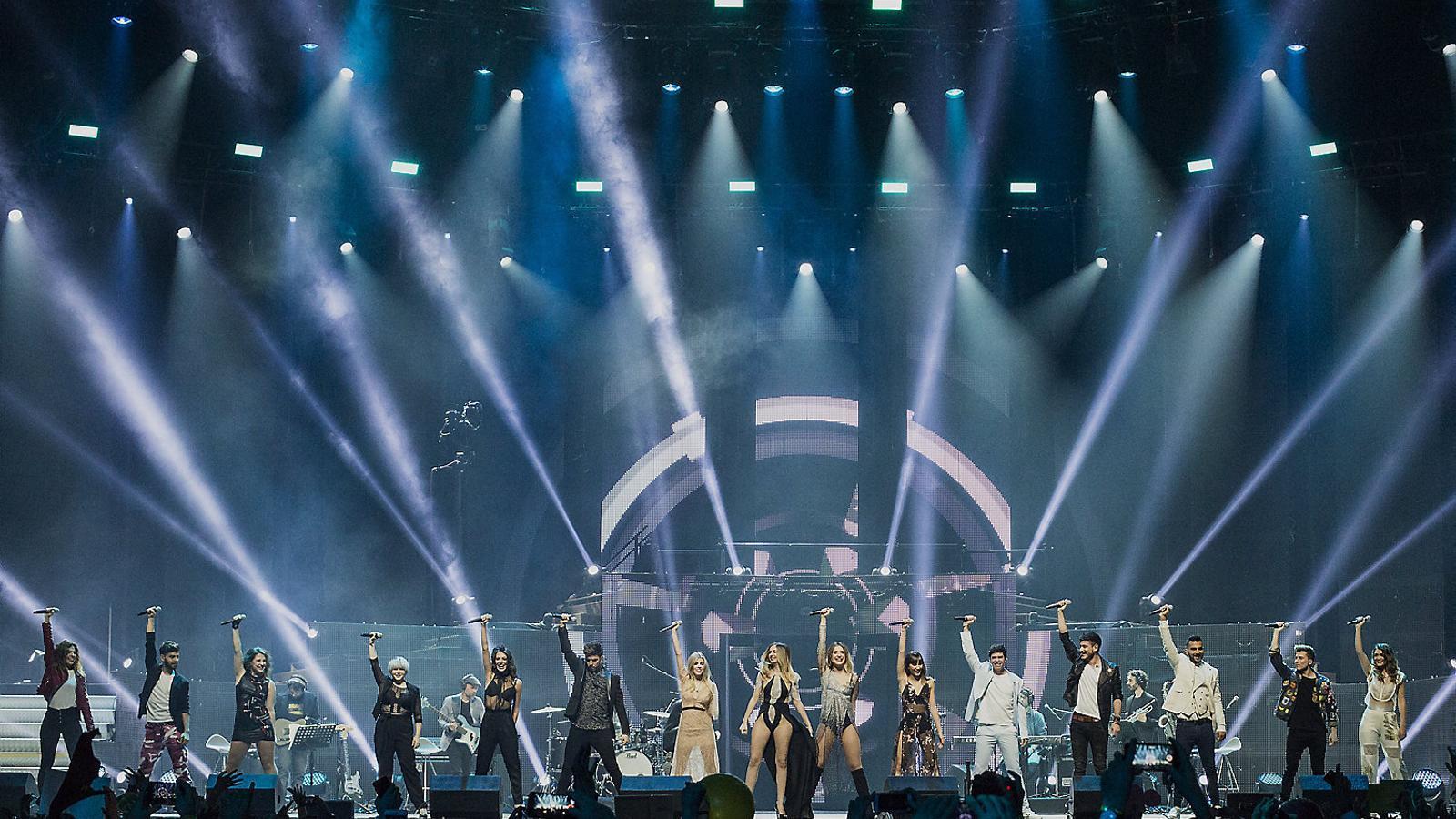 'OT' converteix el Palau Sant Jordi en un karaoke col·lectiu