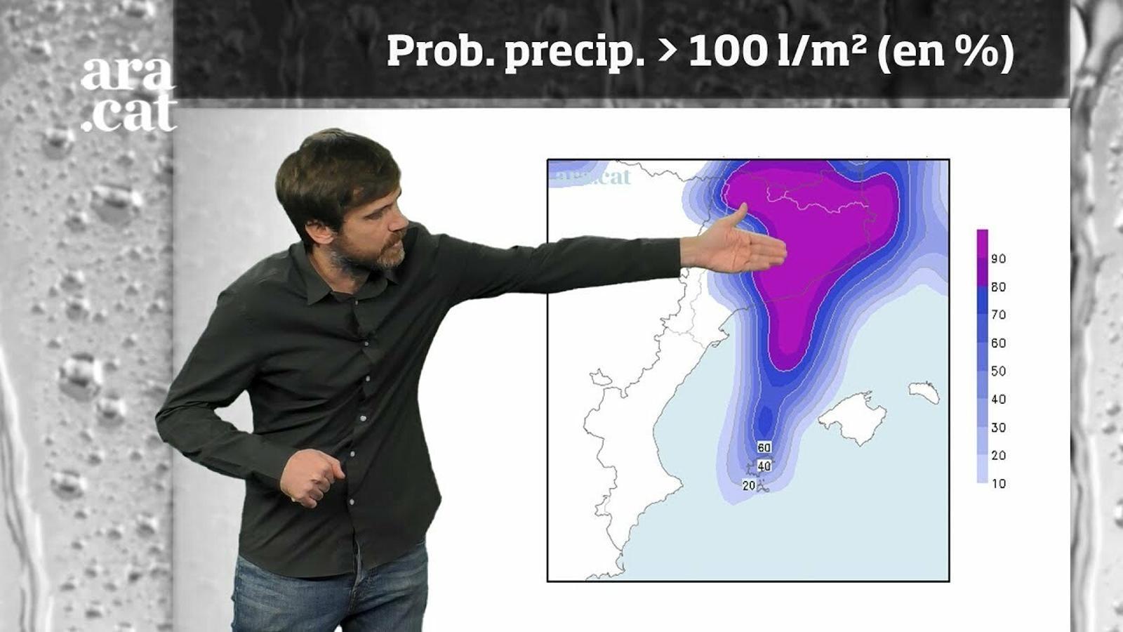 Méteo especial: un temporal de llevant podria deixar fins a 200 l/m2