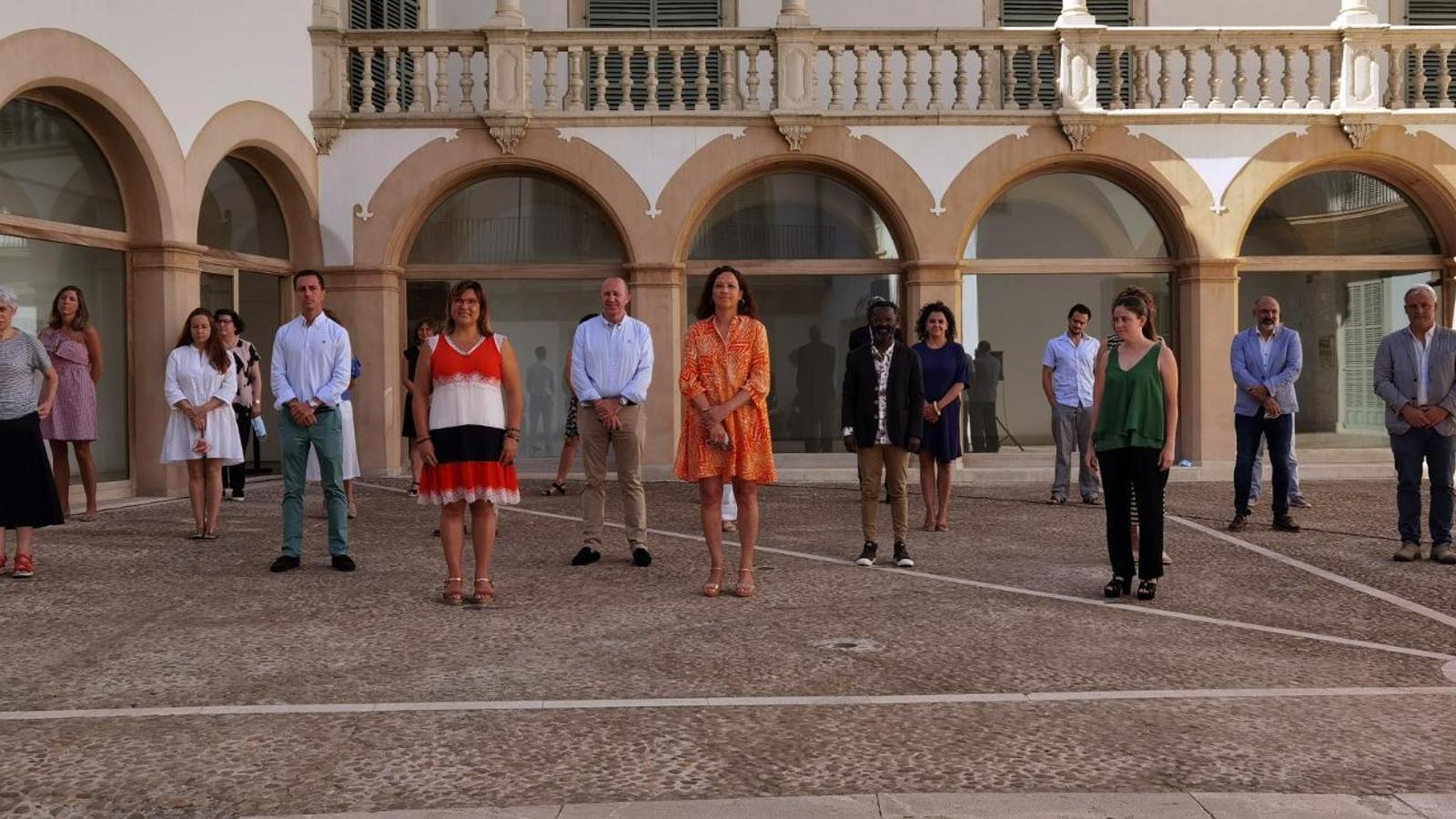 Els consellers del Consell de Mallorca, llevat dels representants de Ciutadans i Vox.