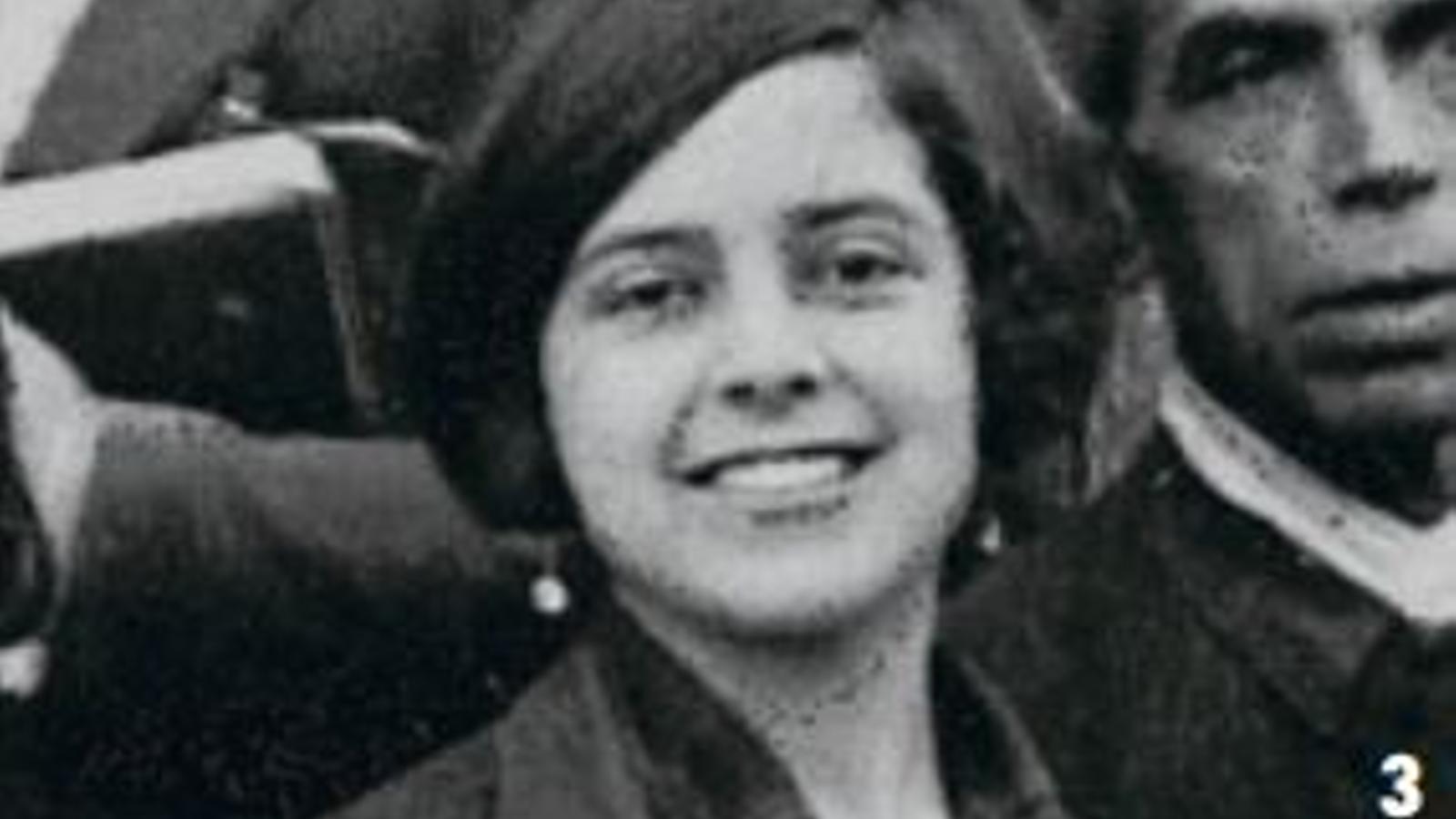 Aurora Picornell (novembre de 1930, quan tenia 18 anys).