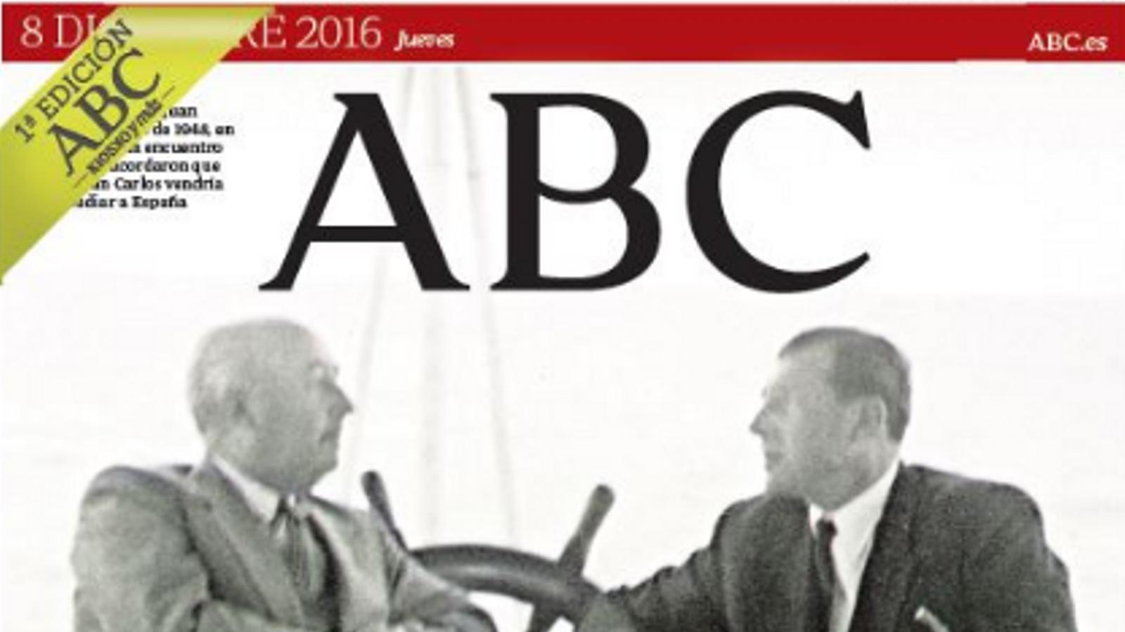 """""""Franco contra Don Juan"""", portada de l''ABC'"""