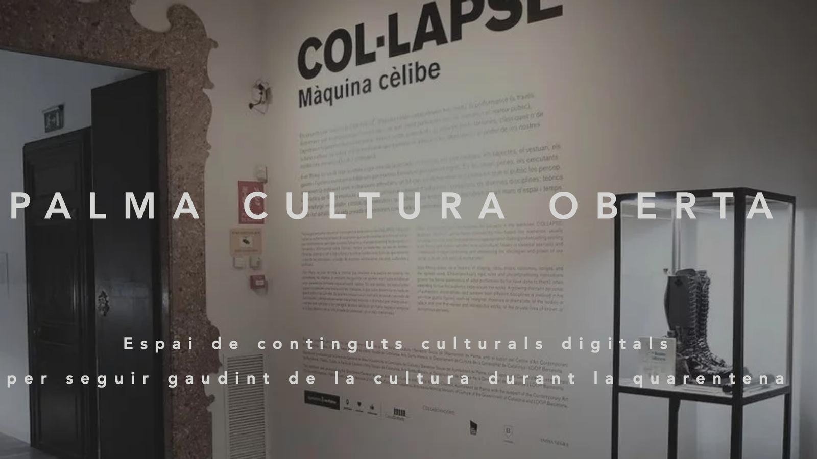 """Imatge principal de la web """"Palma cultura oberta"""""""