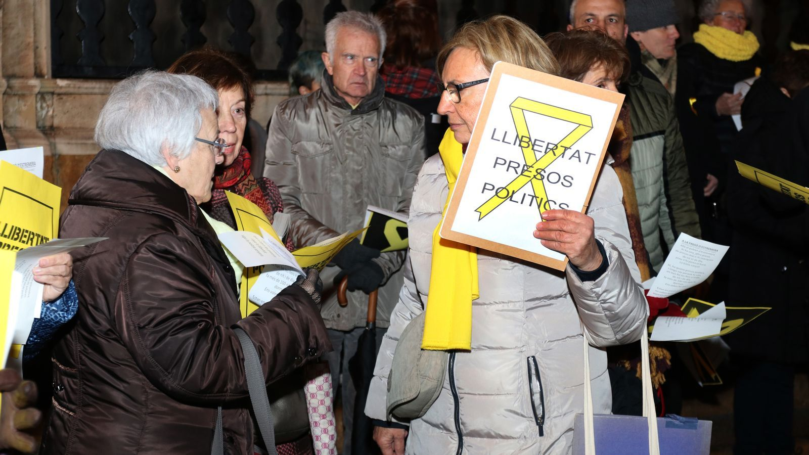 Concentració a Palma per demanar la llibertat dels presos polítics.