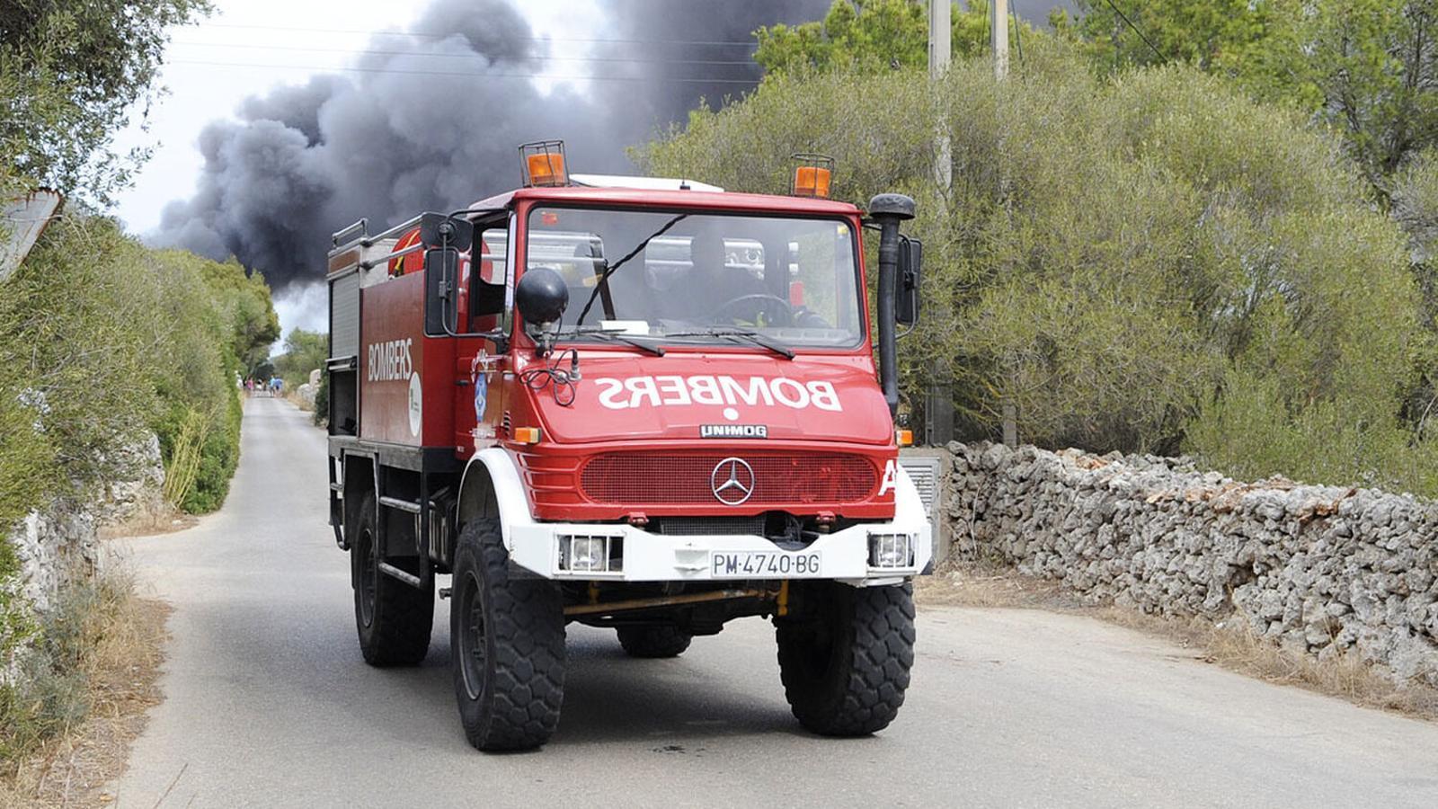 Els Bombers de Menorca asseguren estar preparats per a donar resposta a qualsevol foc que es pugui declarar.