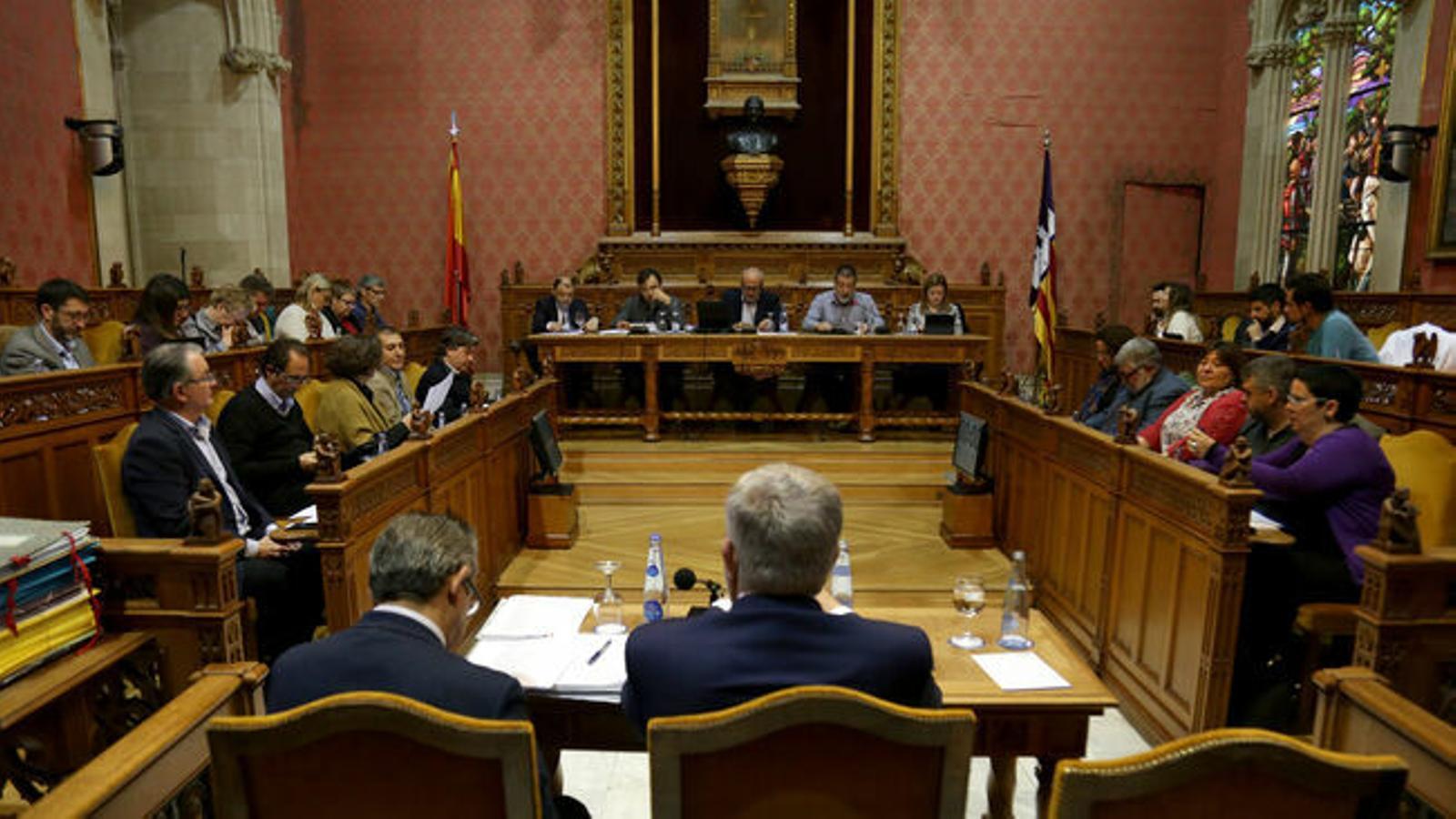 El ple del Consell de Mallorca. / ISAAC BUJ