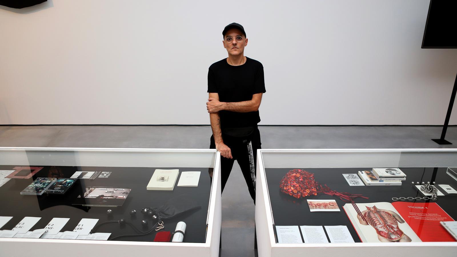 Joan Morey a l'exposició 'Tour de Force', d'Es Baluard