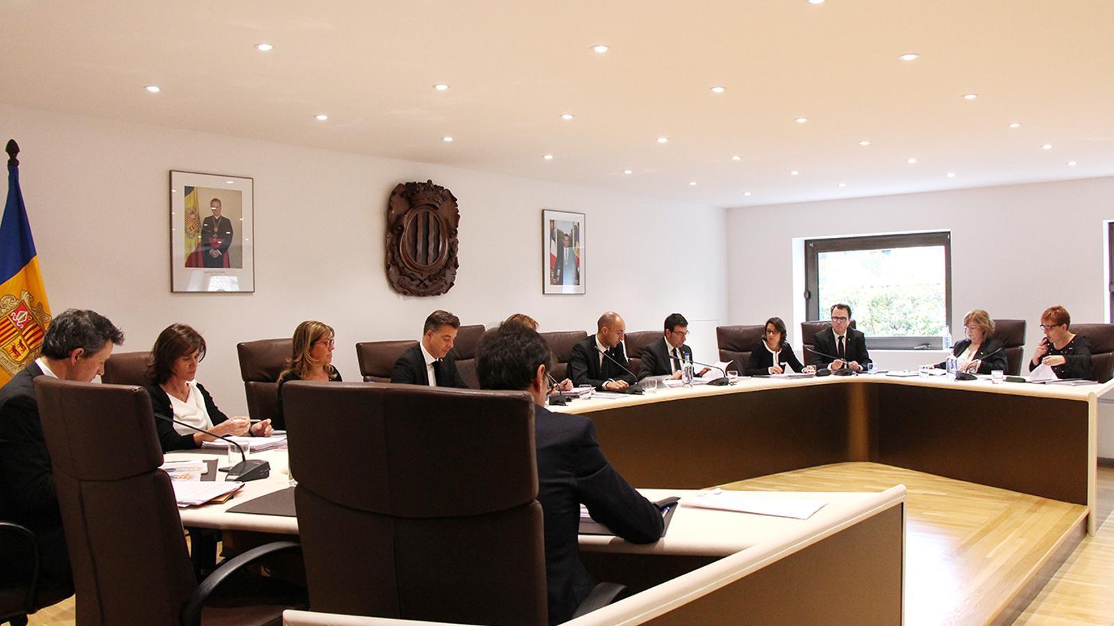 Un moment de la sessió de consell de comú celebrada aquest dimecres. / M. F. (ANA)