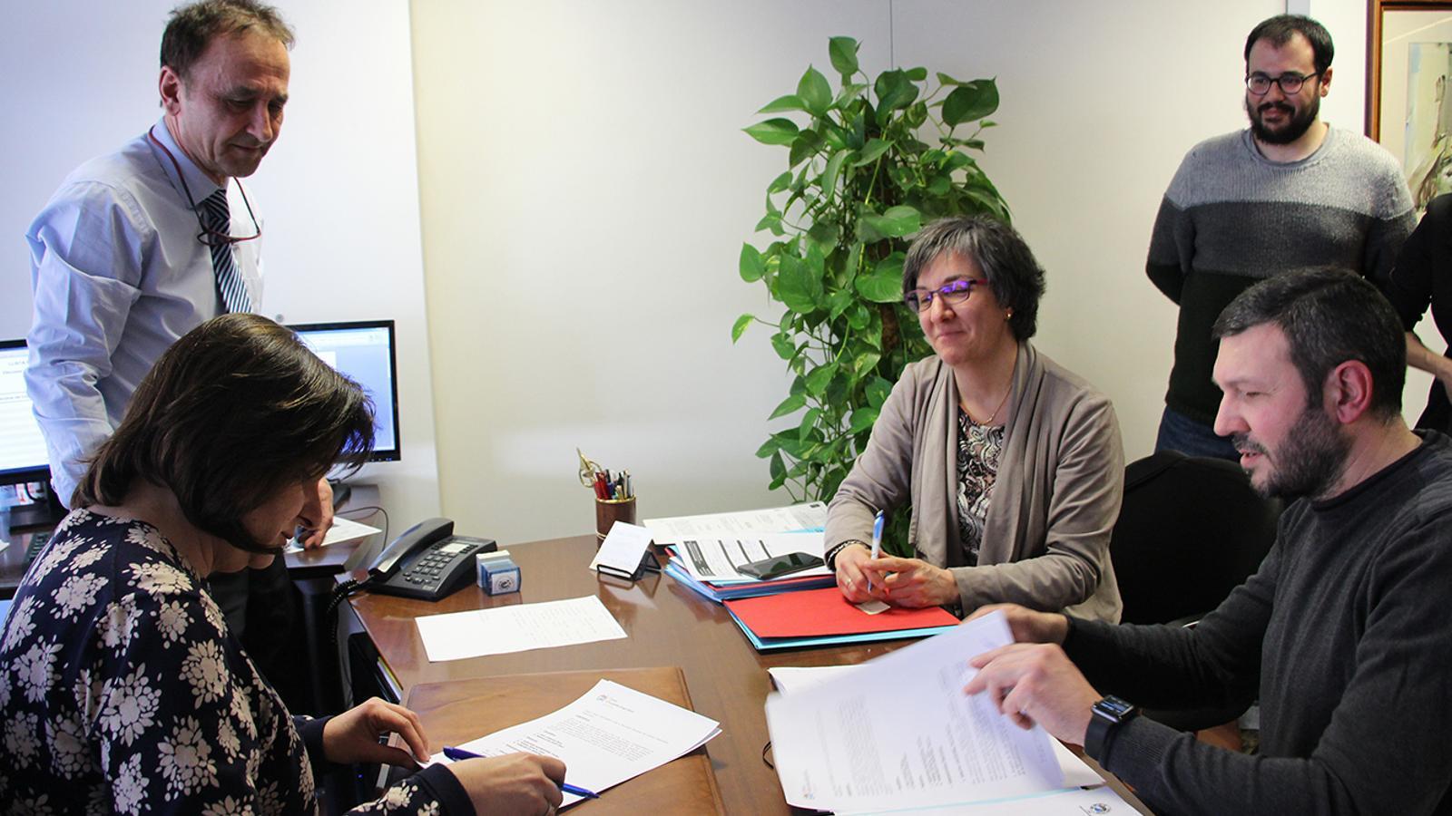 Un moment de la presentació de la llista conjunta de D'acord a Escaldes-Engordany, de la mà de Cèlia Vendrell i Jordi Moreno. / M. F. (ANA)