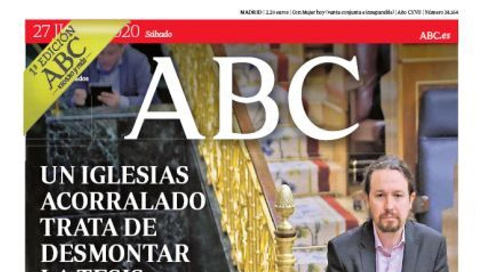 portada abc 27/06/20