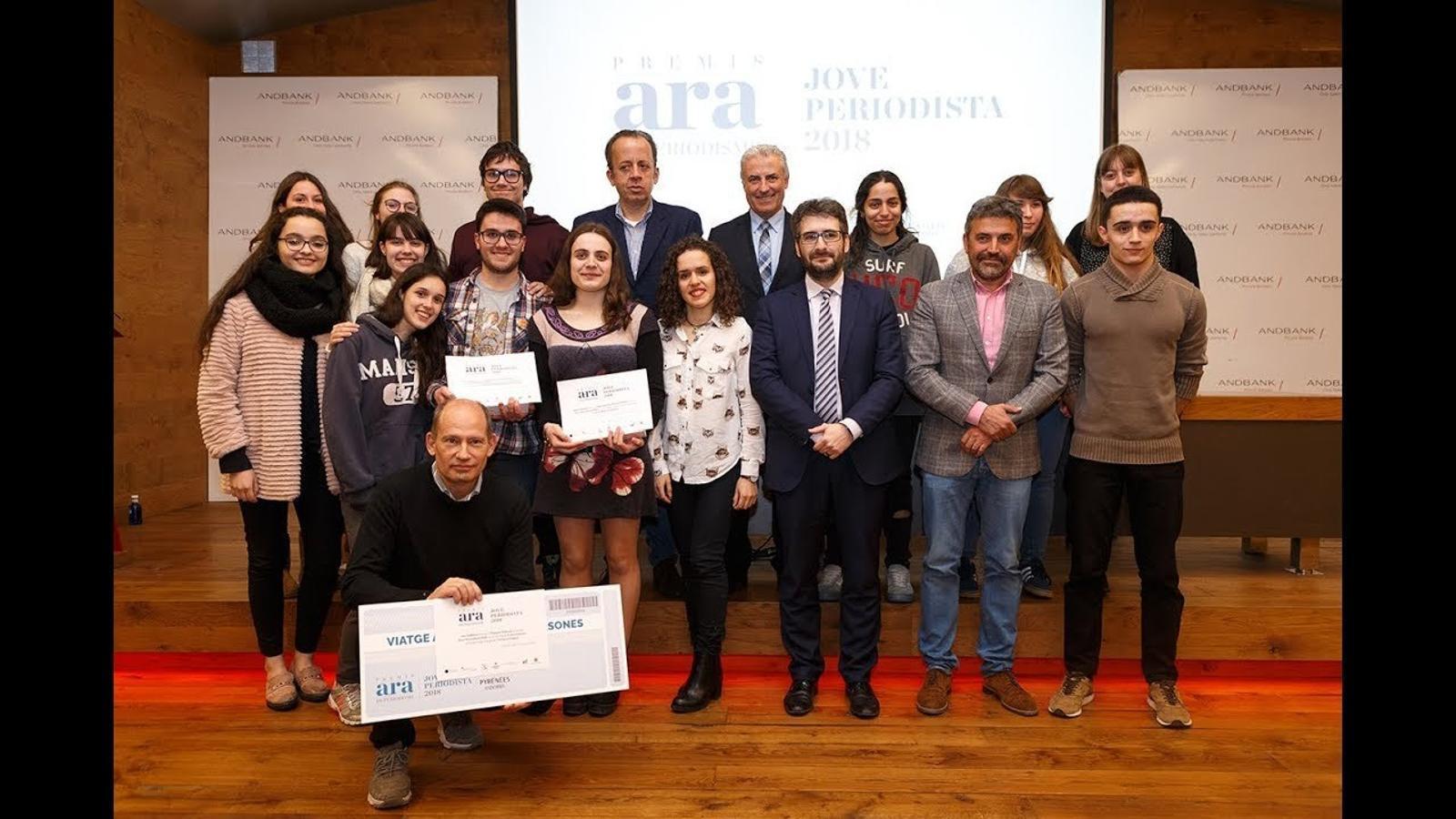 Entrega dels guardons del Premi Jove Periodista 2018