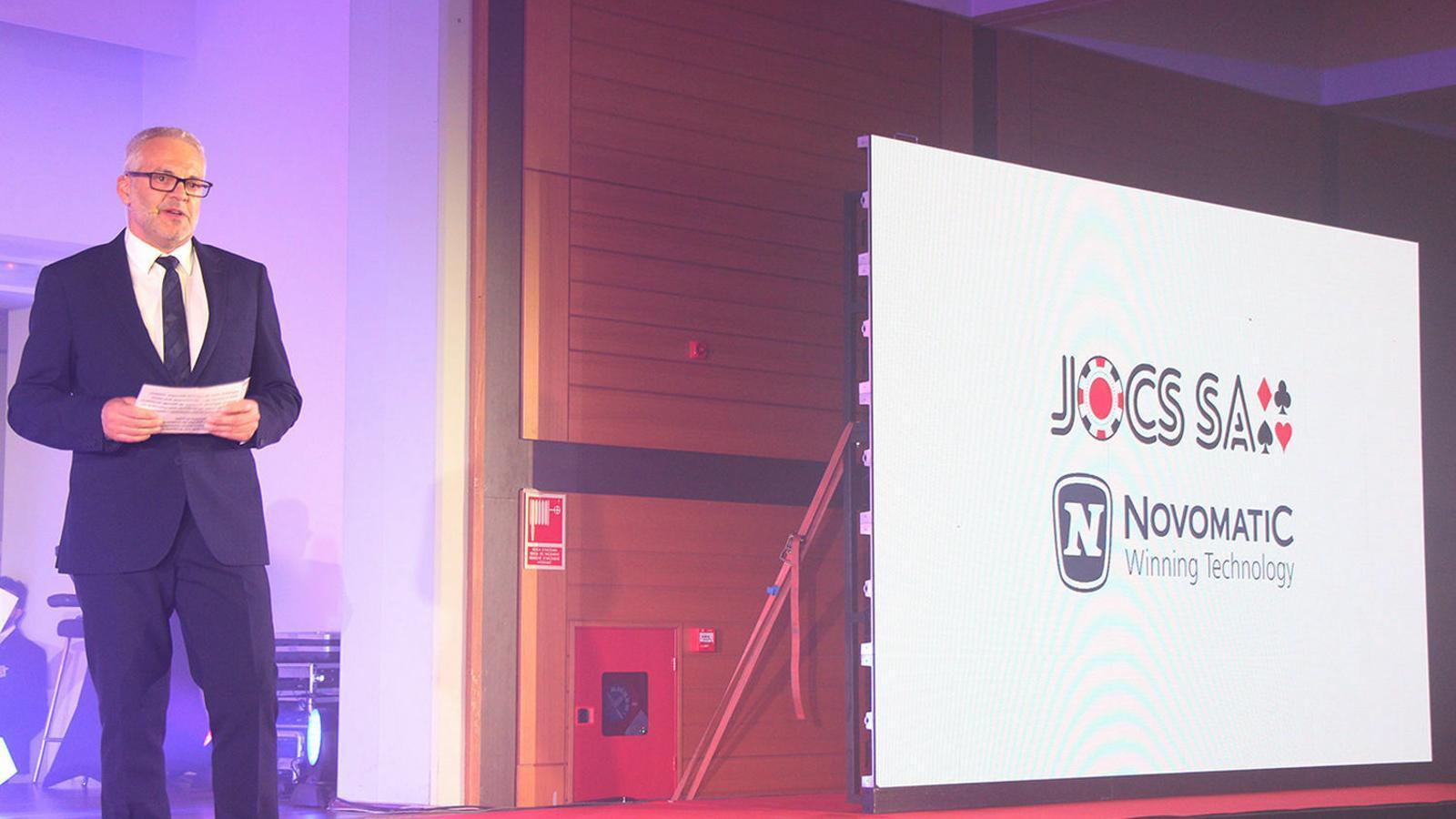 El president de Jocs SA, Ventura Espot, en la presentació del projecte. / ARXIU ANA