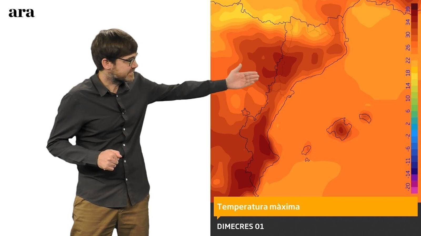 La méteo: calor forta per primer cop en aquest estiu
