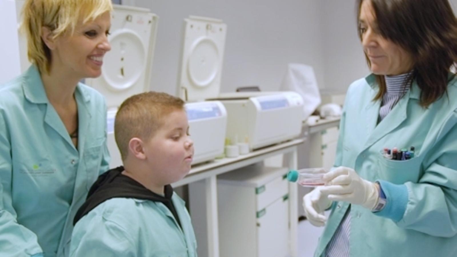 Tornar a l'escola: l'objectiu  del Sergi després del càncer