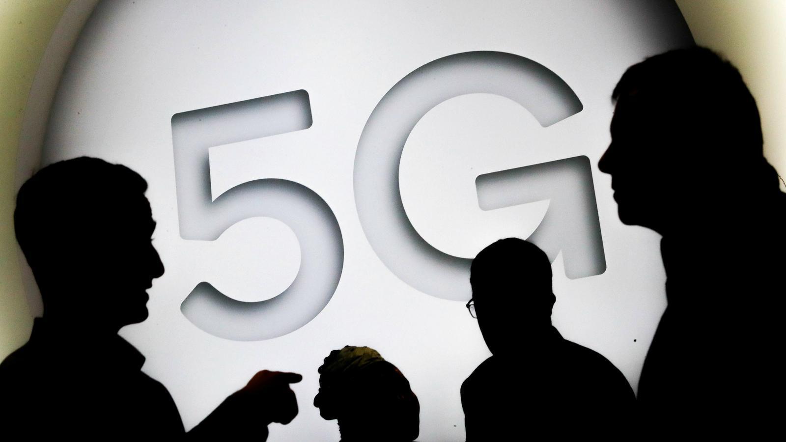 Un cartell del 5G a l'última edició del Mobile World Congress.
