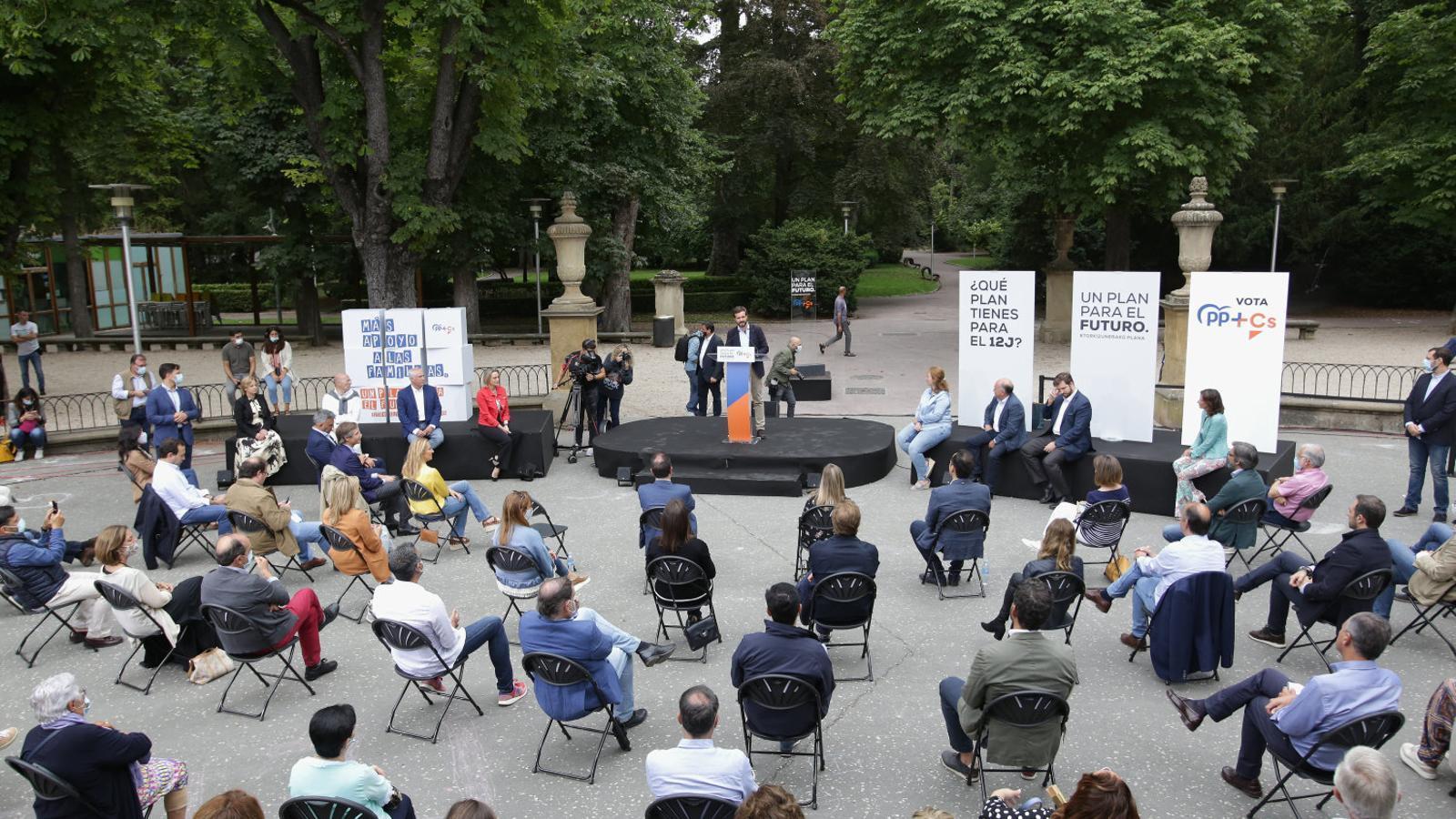 Acte de clausura de la coalició PP+Cs a Euskadi, en què va participar Pablo Casado.