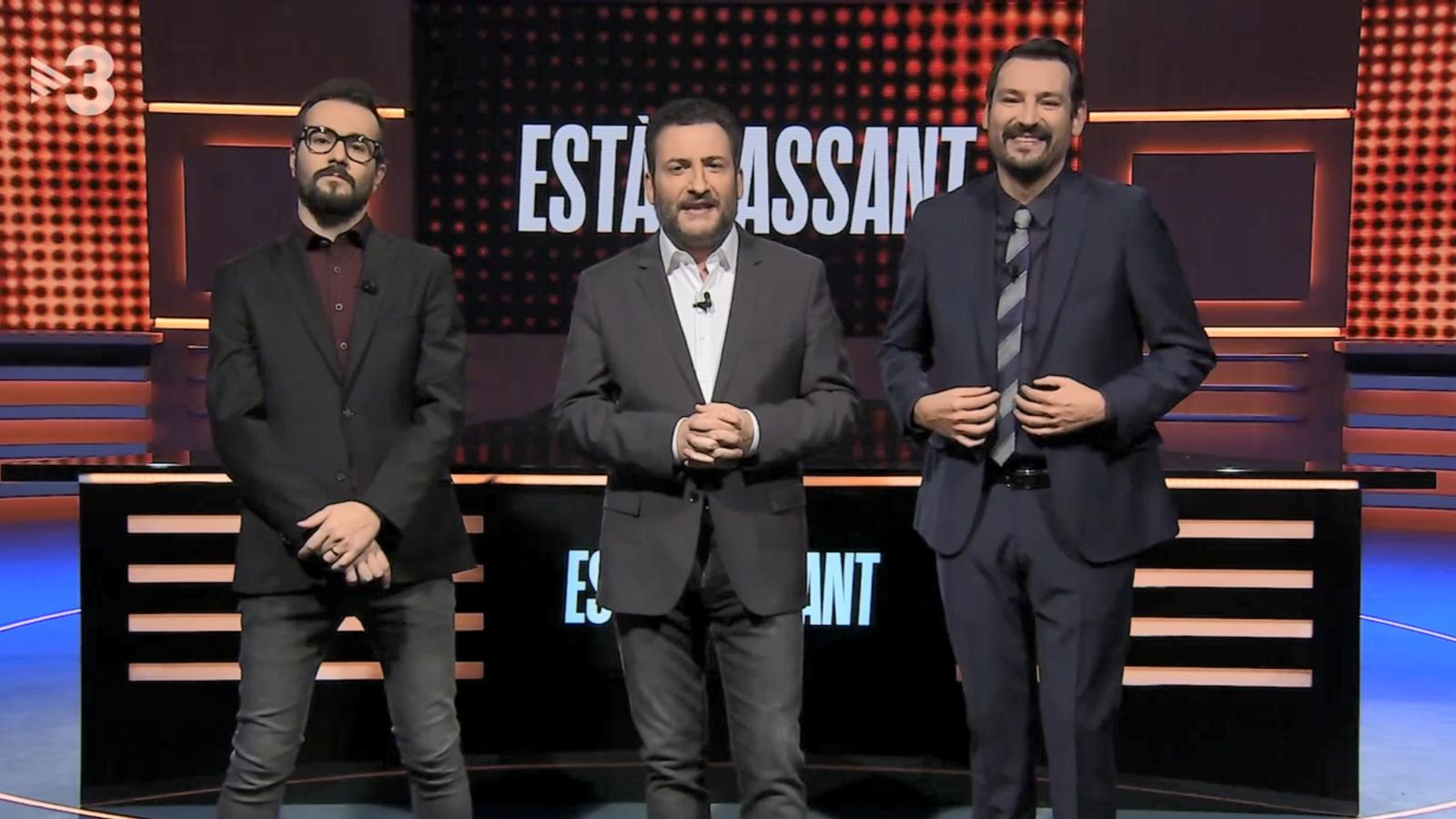 Jair Domínguez, Toni Soler i Òscar Andreu, aquest dijous a l''Està passant'