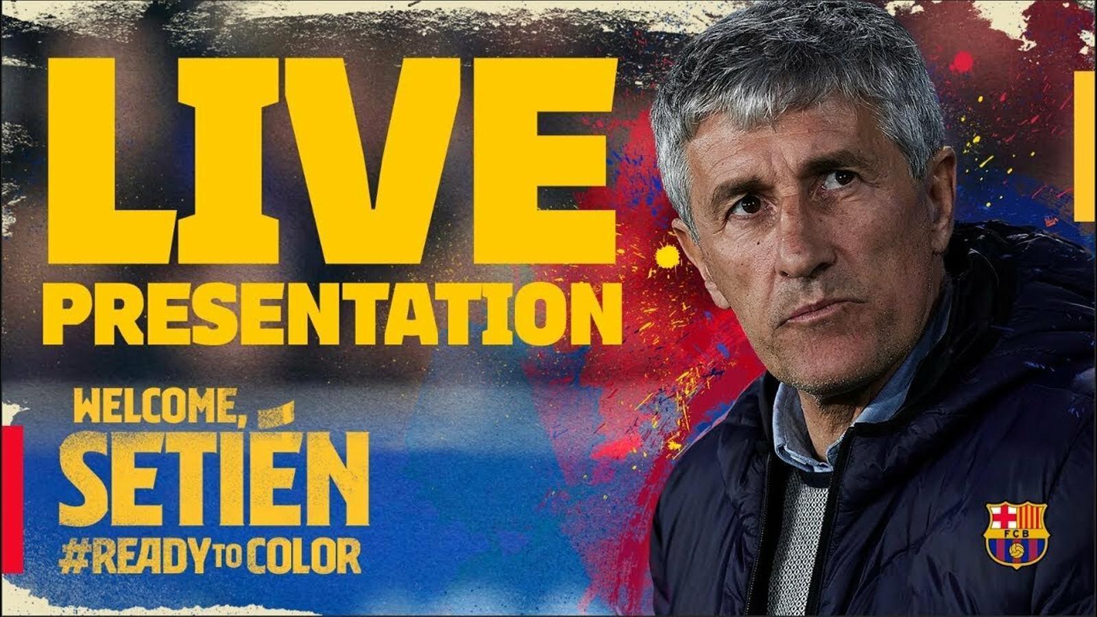 EN DIRECTE: Roda de premsa de presentació de Quique Setién com a nou entrenador del Barça