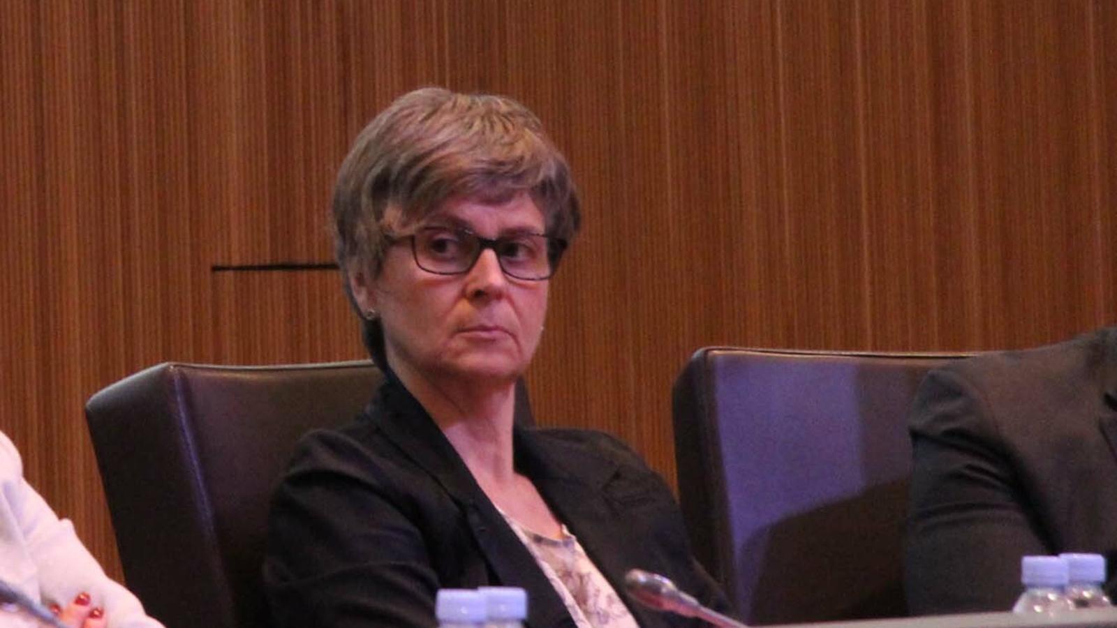 La consellera general del OS Susanna Vela, durant una sessió de Consell general. / M. F.