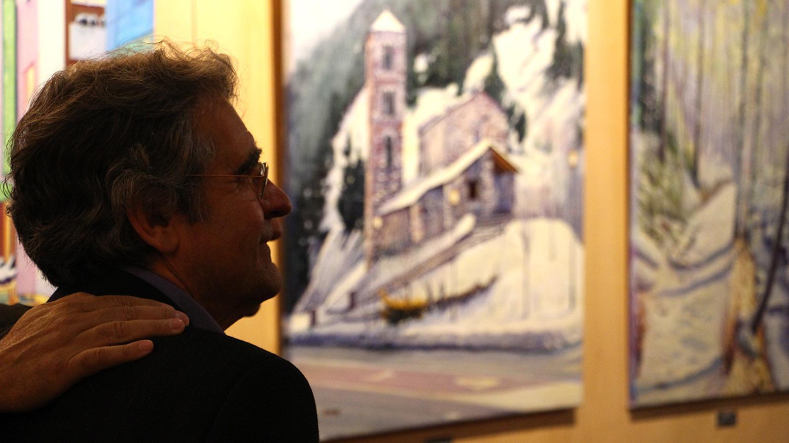 L'artista Jaume Campmany durant la presentació de l'exposició. / ANA