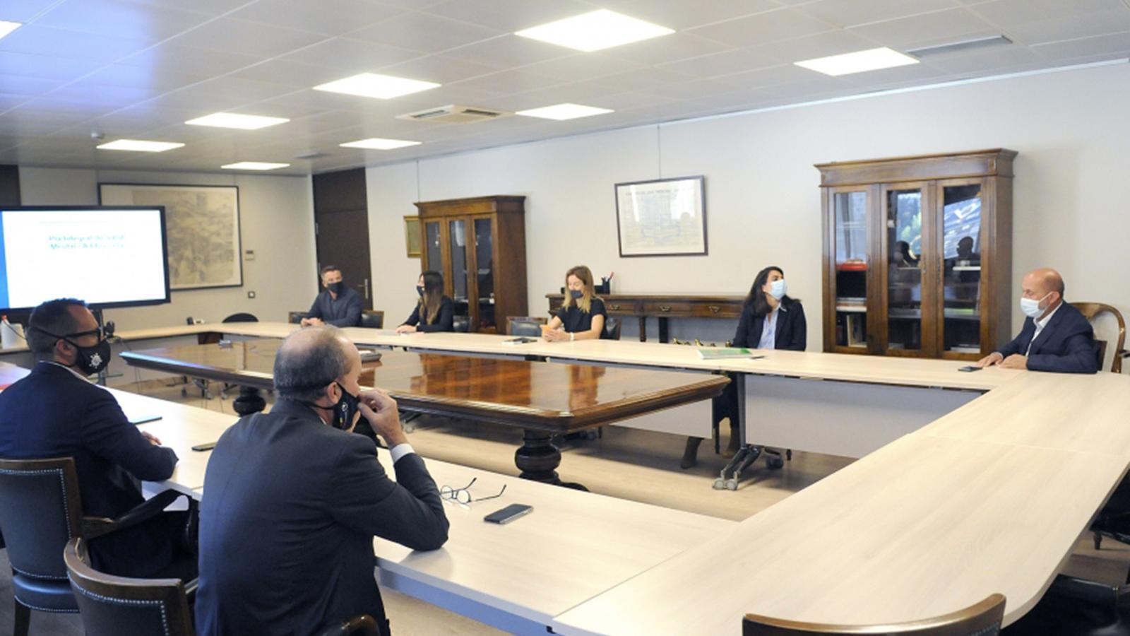 Un moment de la reunió per a l'elaboració del Pla integral de salut mental i addiccions. / SFG