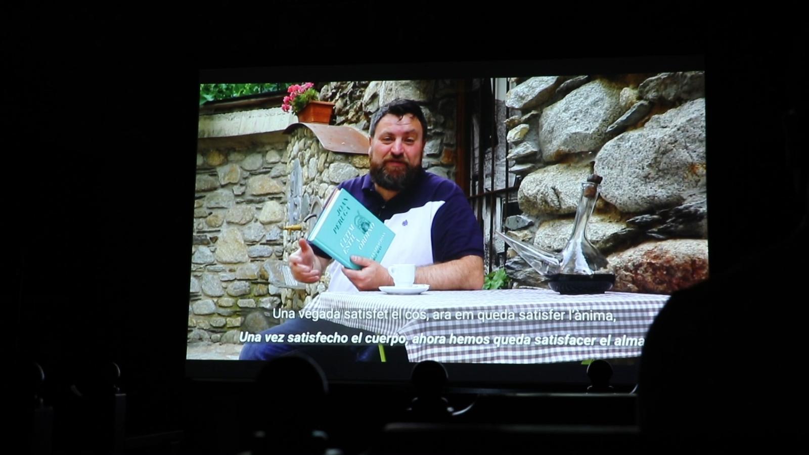 Un dels quatre vídeos que s'han projectat aquest dimecres a Casa Cristo. / E.C. (ANA)