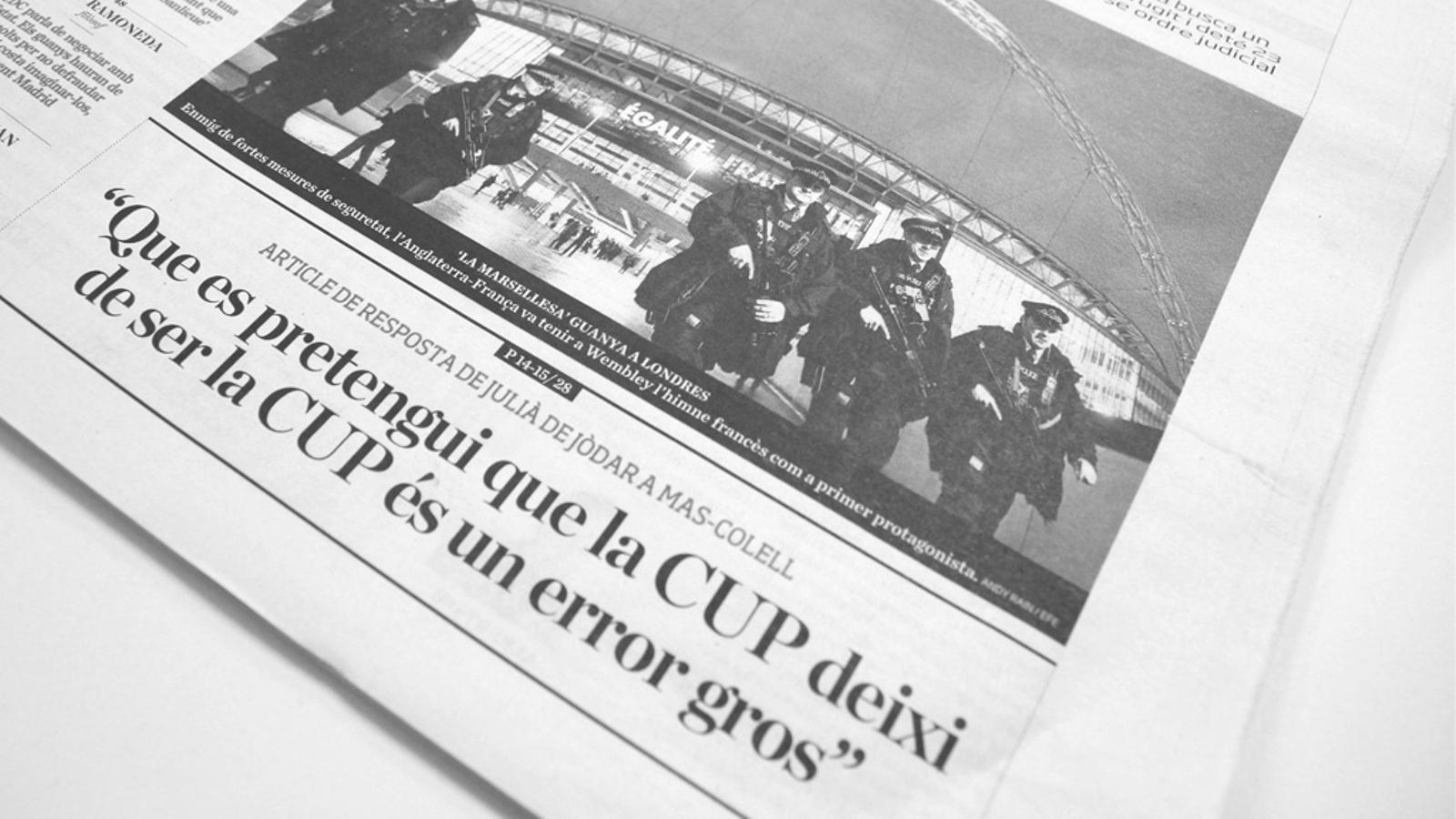 L'editorial d'Antoni Bassas: Aux armes, citoyens, (i una nota final sobre el procés) (18/11/15)