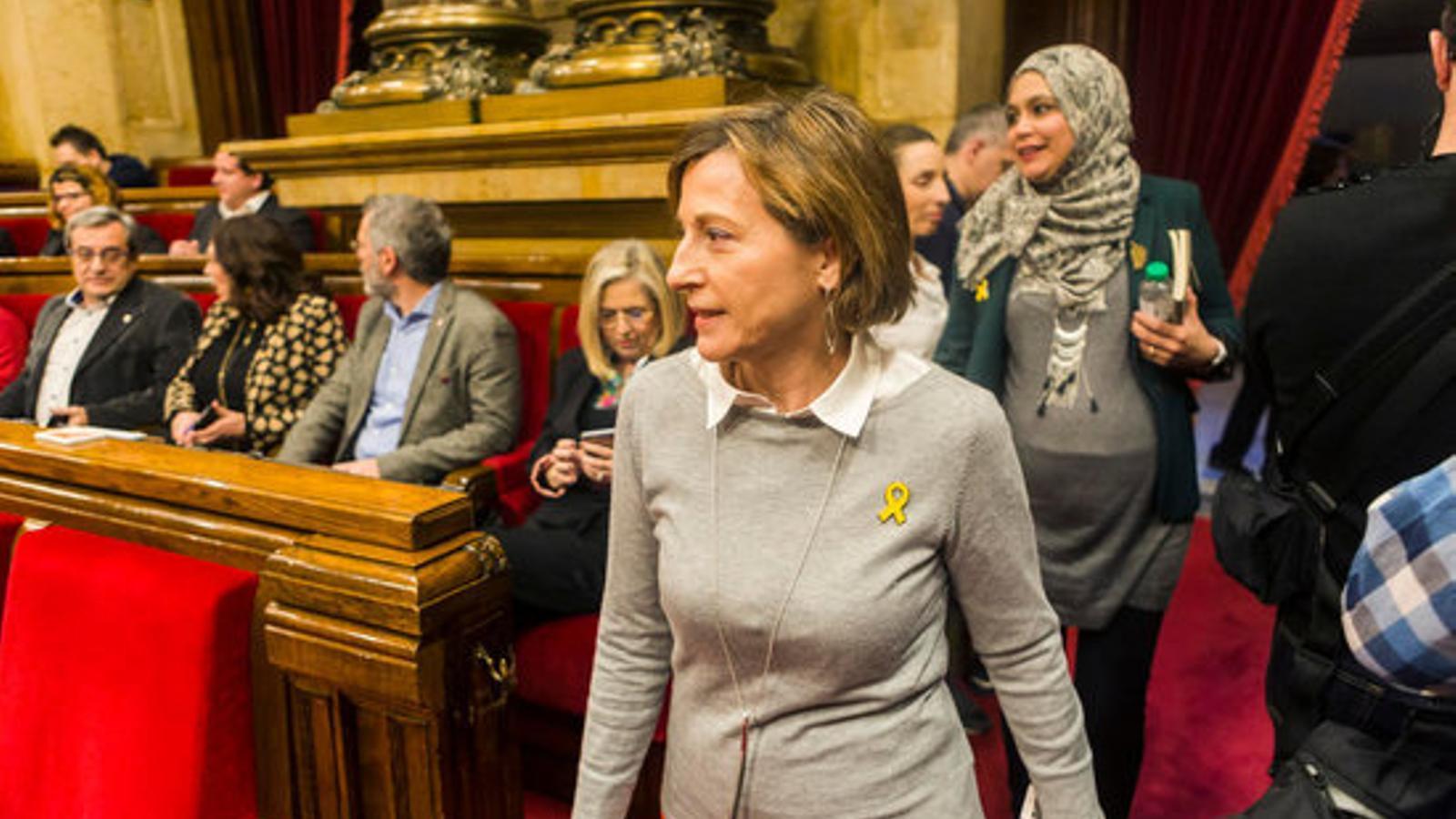 L'expresidenta del Parlament Carme Forcadell, al debat d'investidura de Jordi Turull