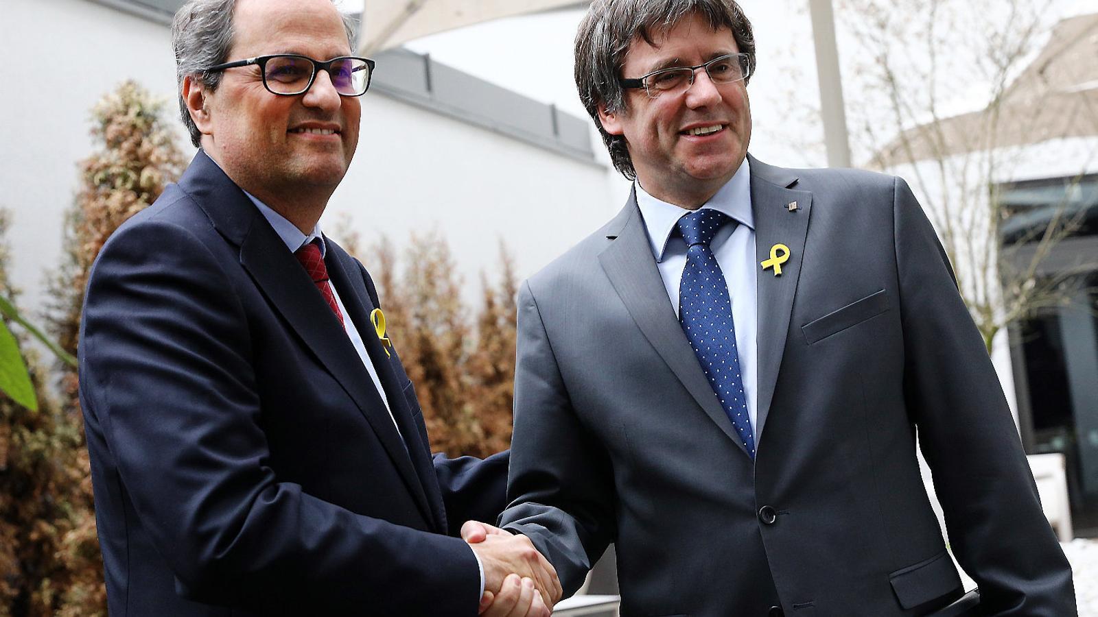 Una vicepresidenta de l'Eurocambra qüestiona els motius per prohibir la conferència de Torra i Puigdemont